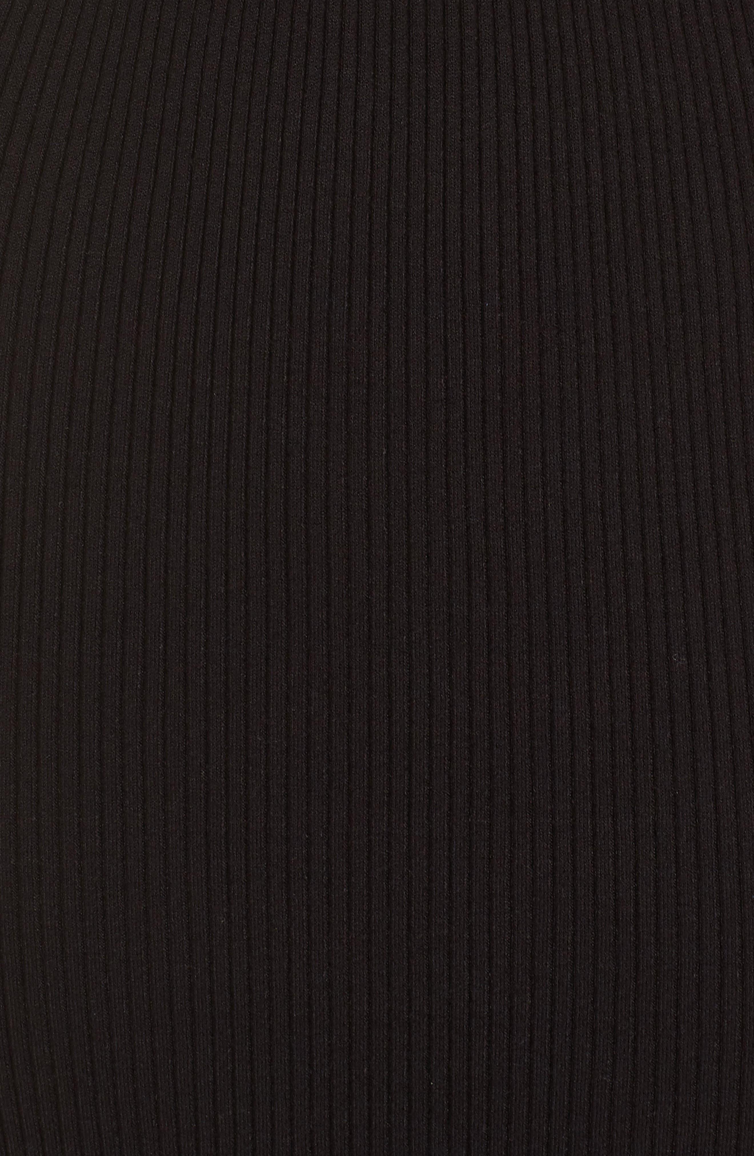 Off the Shoulder Midi Sweater Dress,                             Alternate thumbnail 6, color,                             BLACK