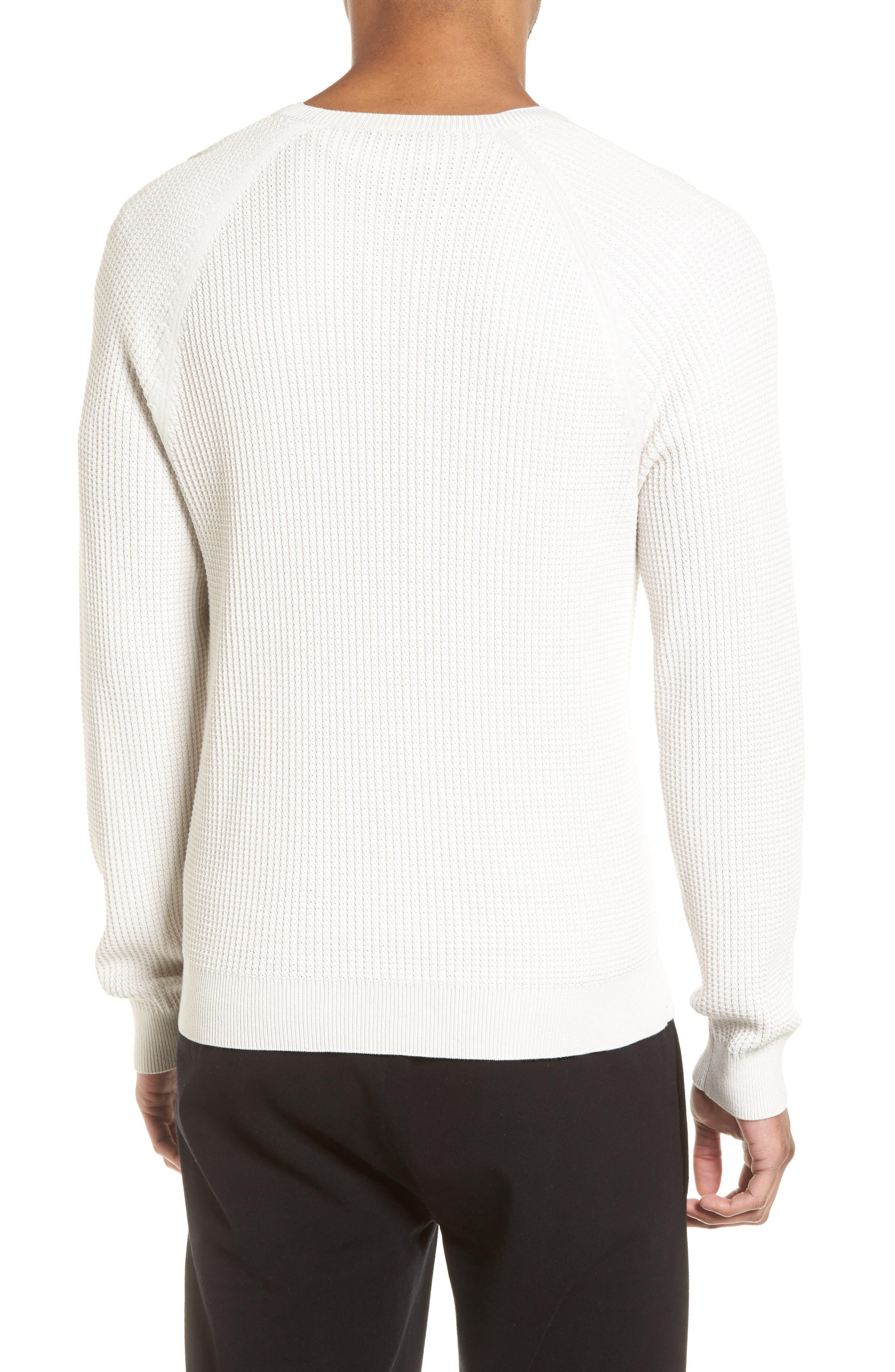 Slim Fit Thermal Knit Raglan Sweater,                             Alternate thumbnail 2, color,                             100