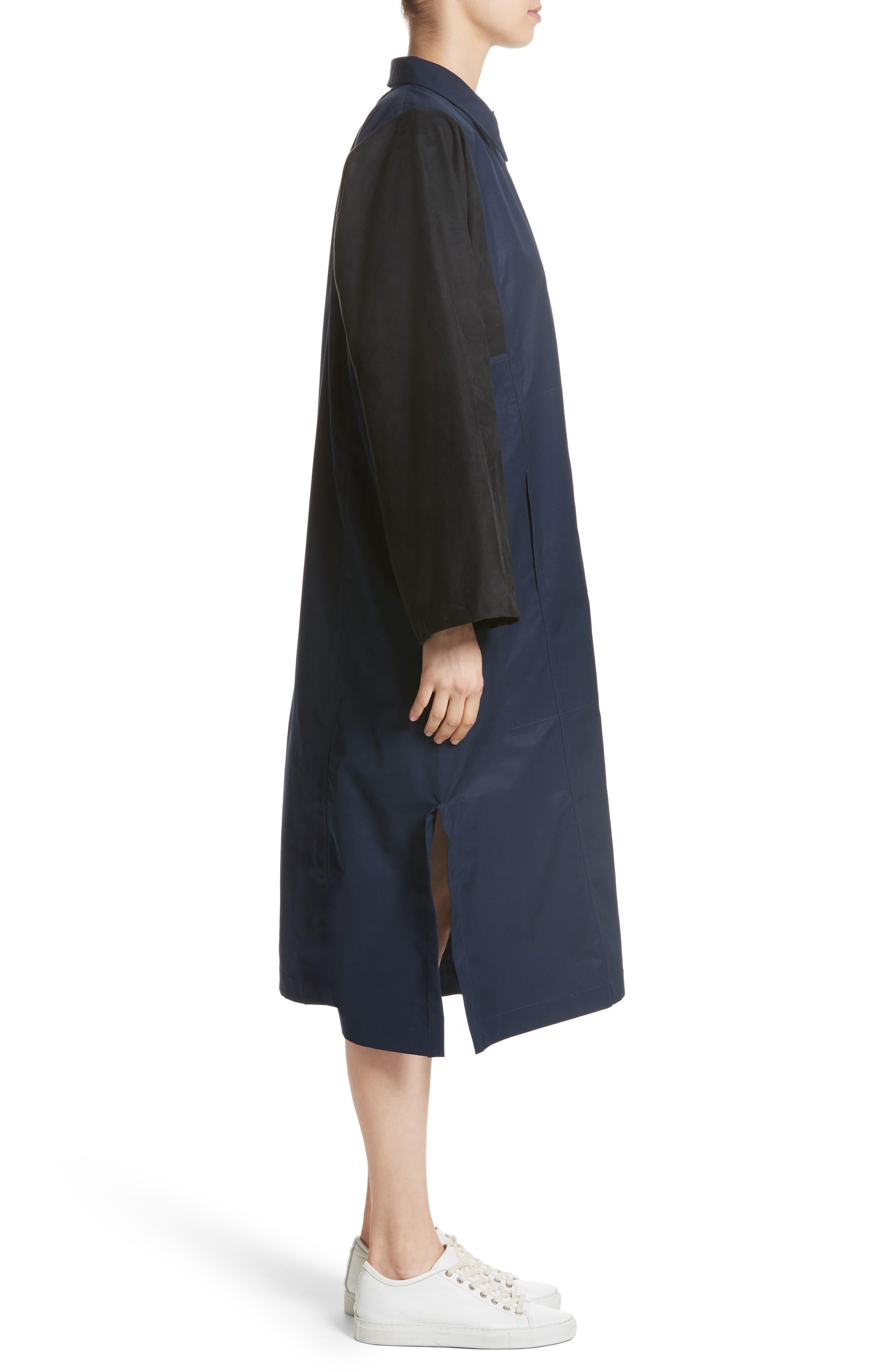 Mixed Media Shirt Dress,                             Alternate thumbnail 3, color,                             415