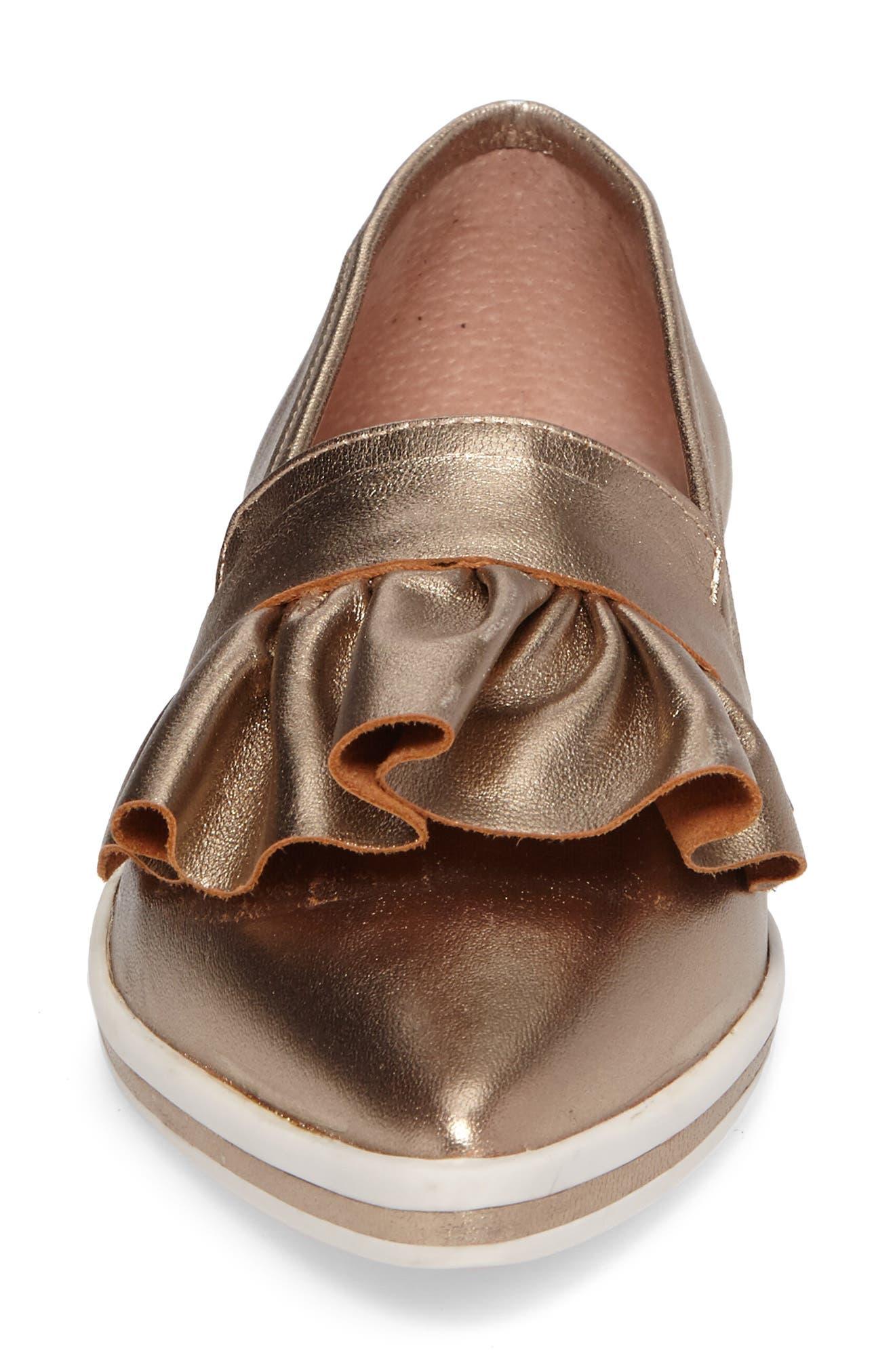 Taraji Ruffle Slip-On Sneaker,                             Alternate thumbnail 15, color,