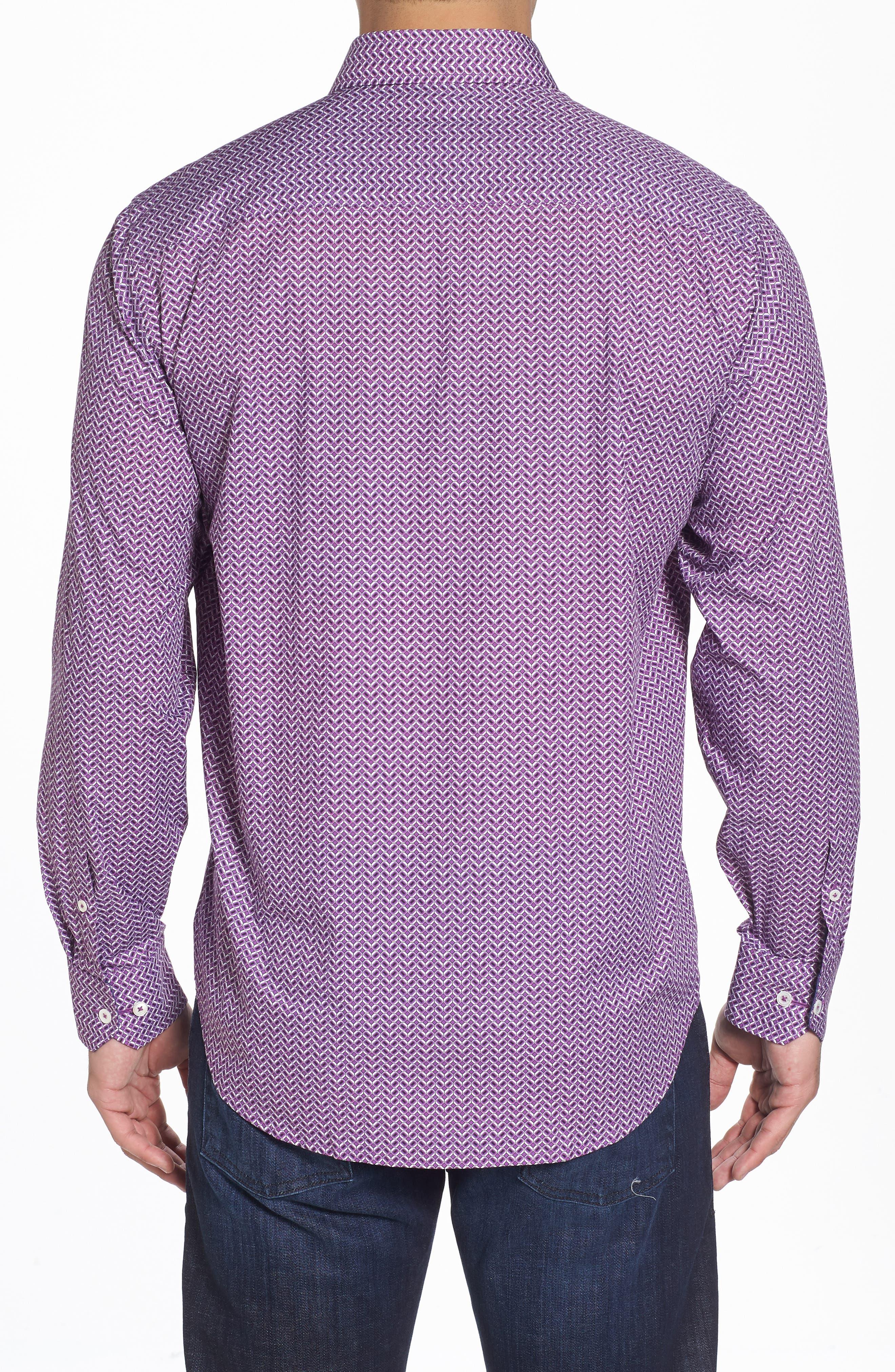 Classic Fit Print Sport Shirt,                             Alternate thumbnail 2, color,                             503