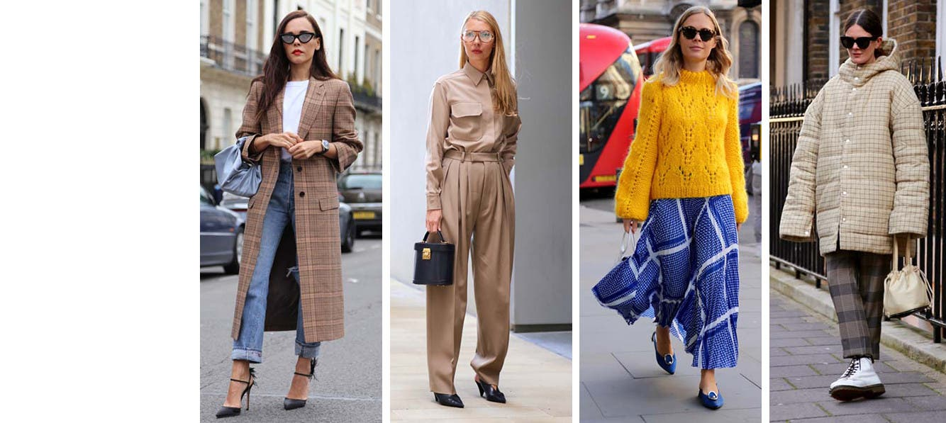 Get the look: neutrals versus brights at London Fashion Week.