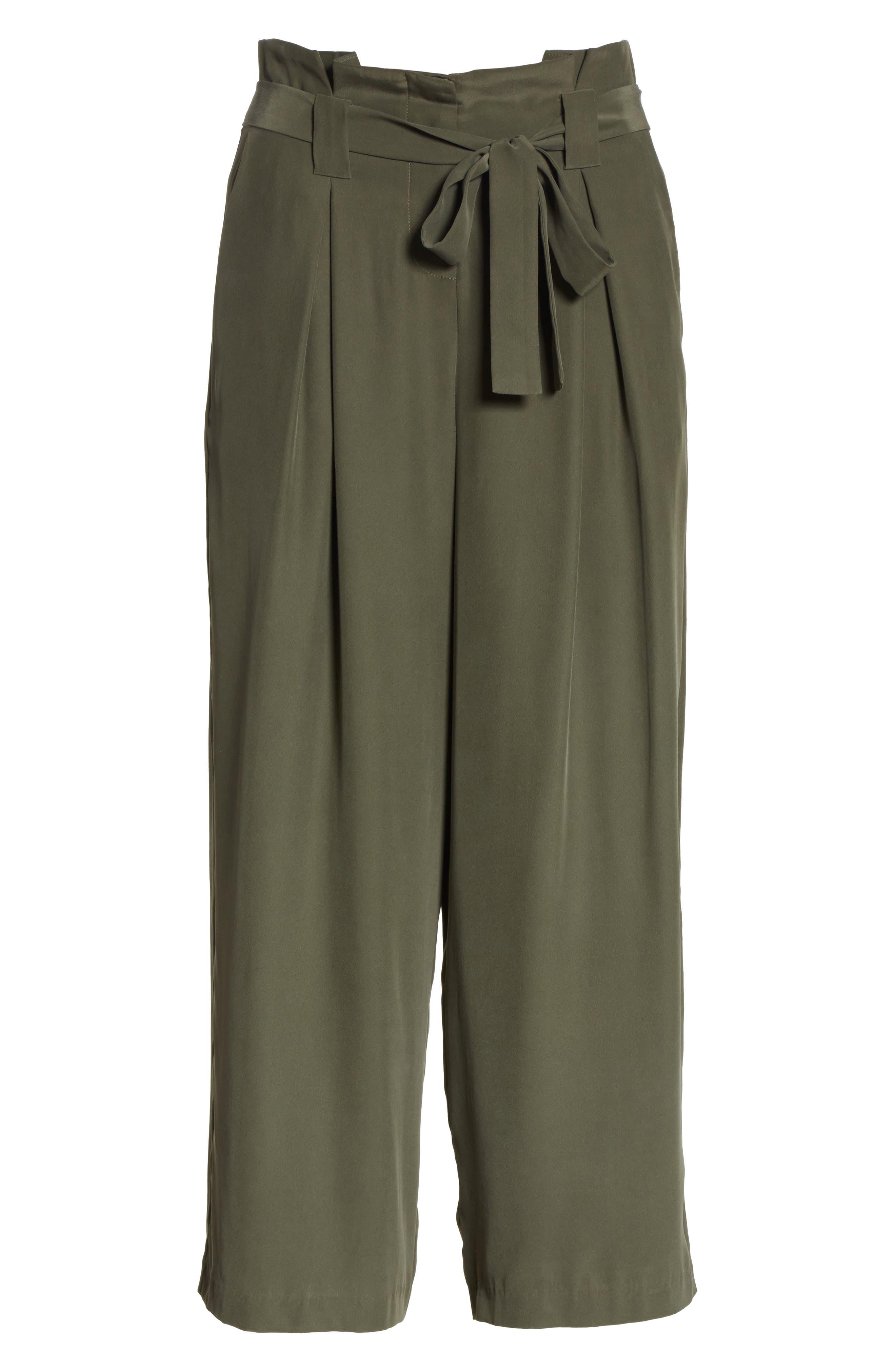 Samira Paperbag Wide Leg Pants,                             Alternate thumbnail 6, color,                             300