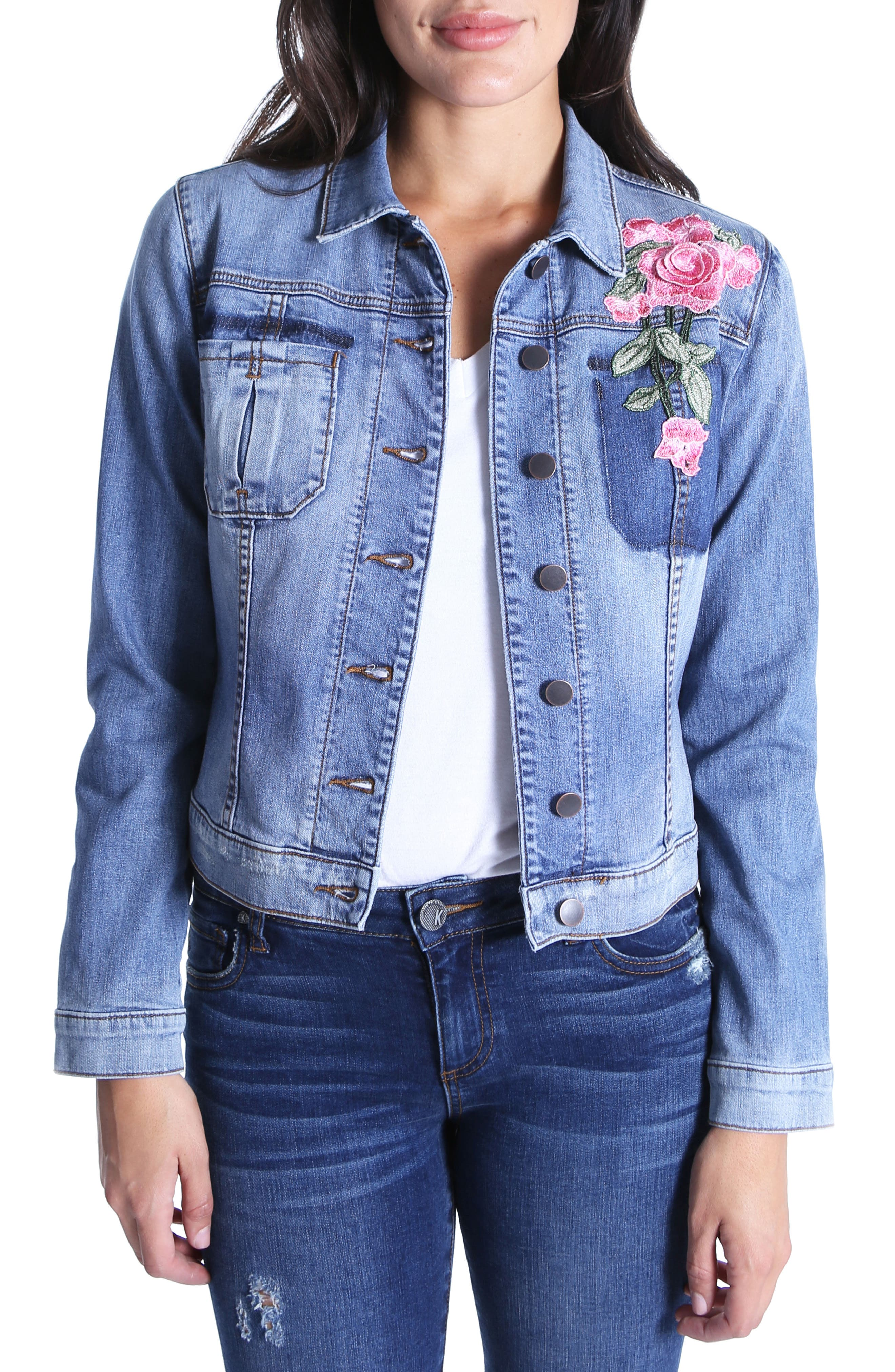 Juko Denim Jacket,                         Main,                         color, 400
