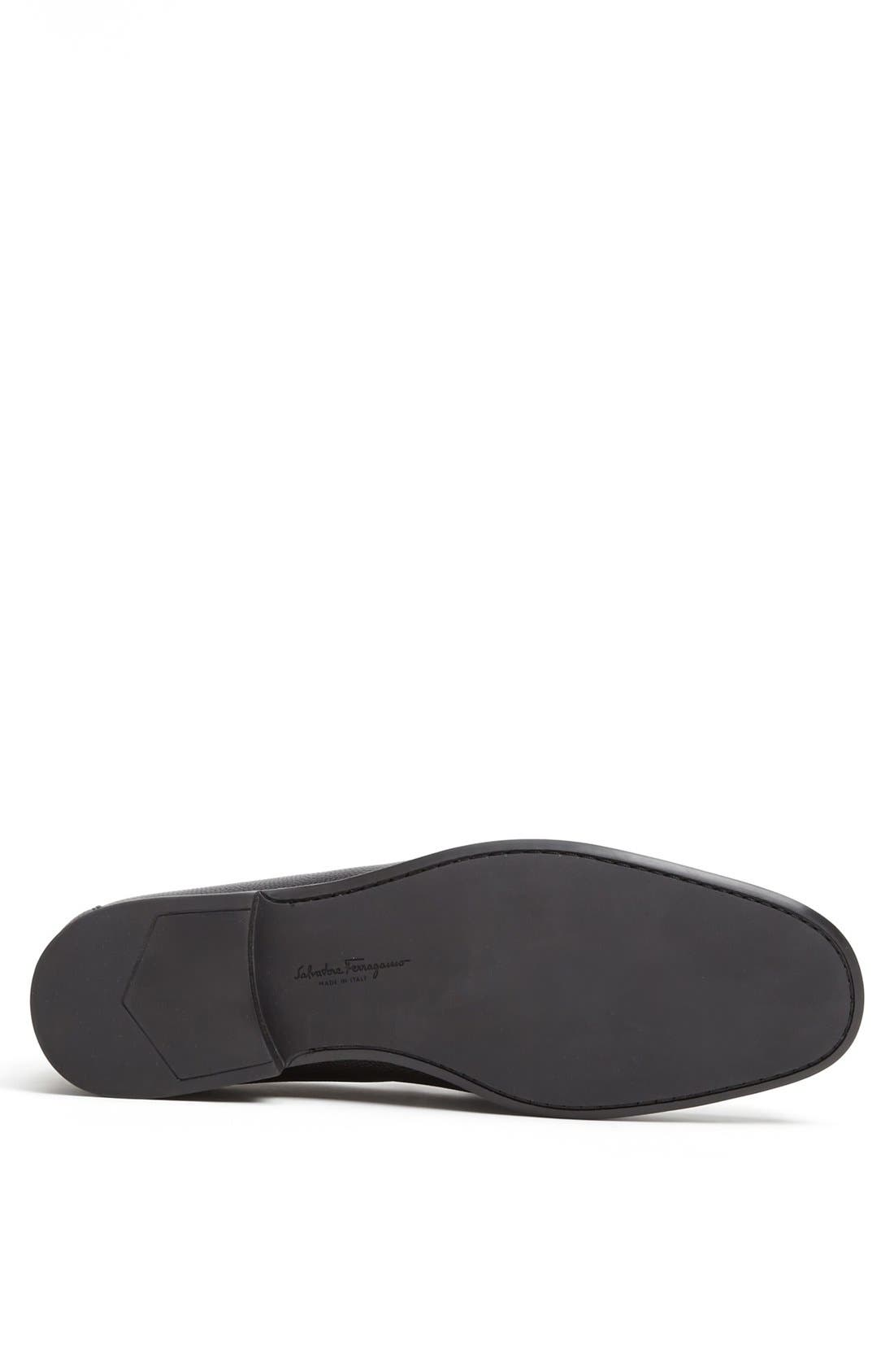 'Regal' Pebbled Leather Loafer,                             Alternate thumbnail 3, color,                             001