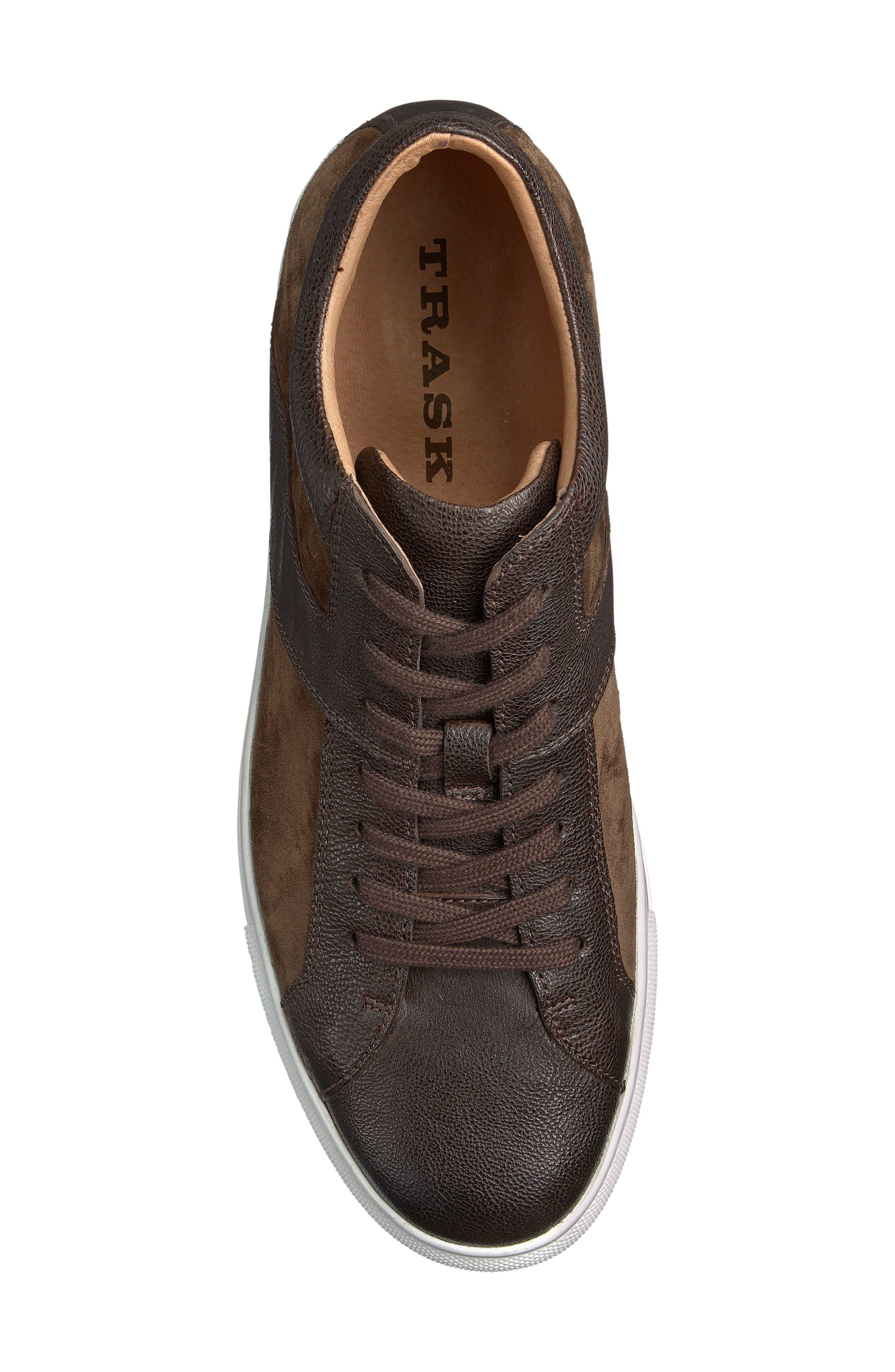 Alec Sneaker,                             Alternate thumbnail 3, color,                             DARK BROWN LEATHER/SUEDE