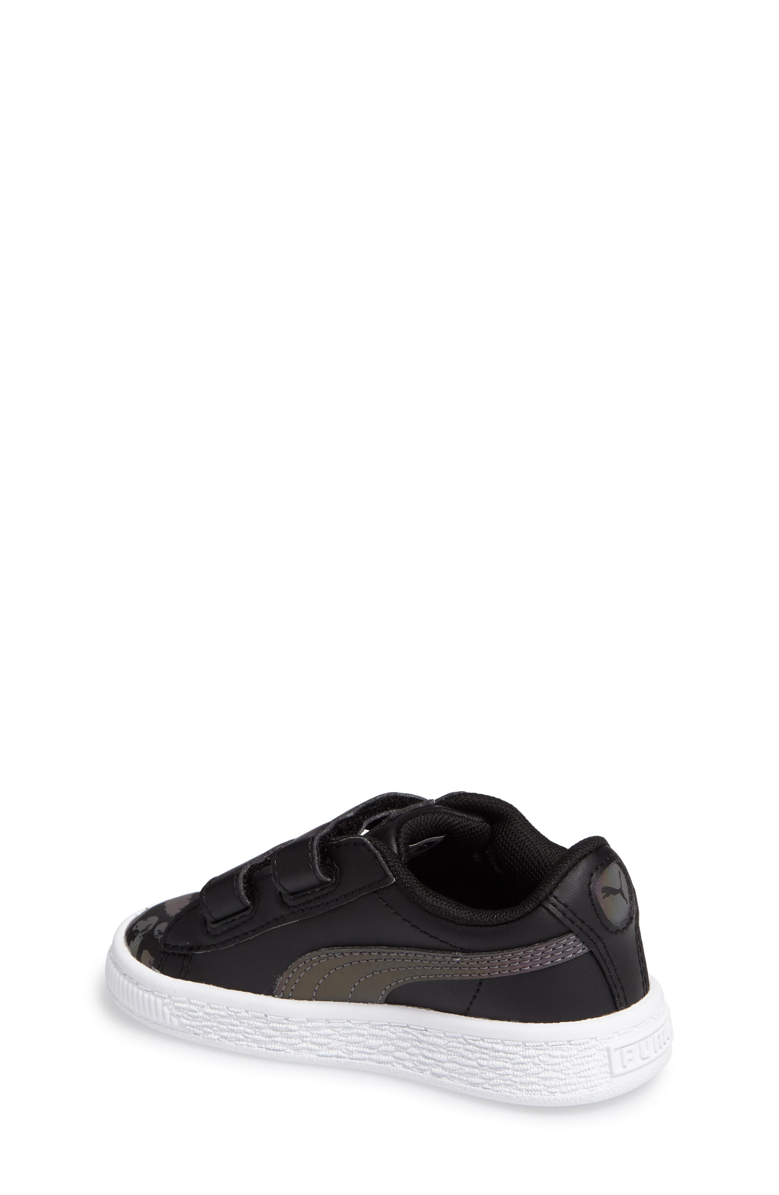 Basket Swan Feather Print Sneaker,                             Alternate thumbnail 2, color,                             001