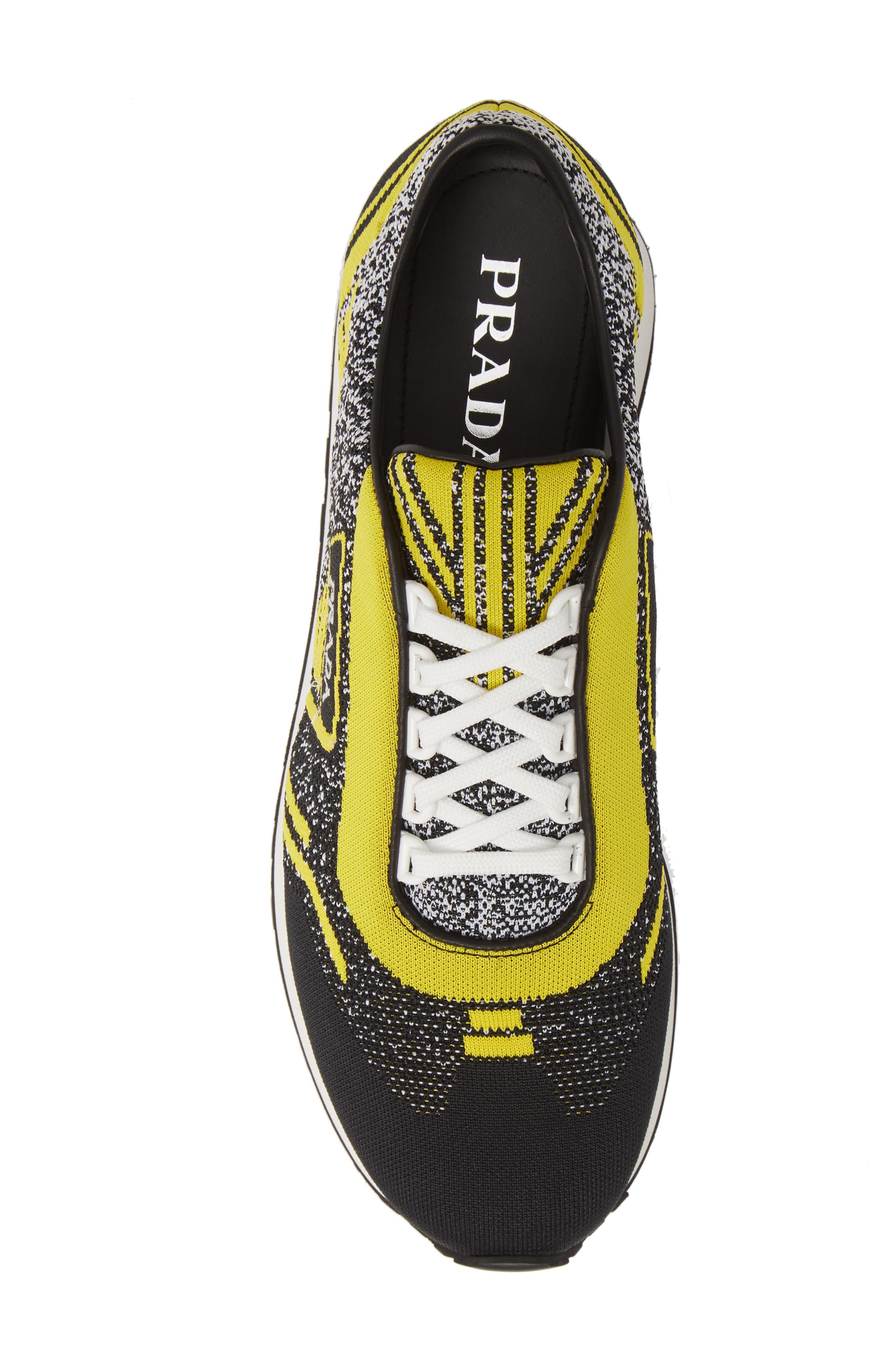 Retro Trainer Sneaker,                             Alternate thumbnail 5, color,                             NERO GIALLO