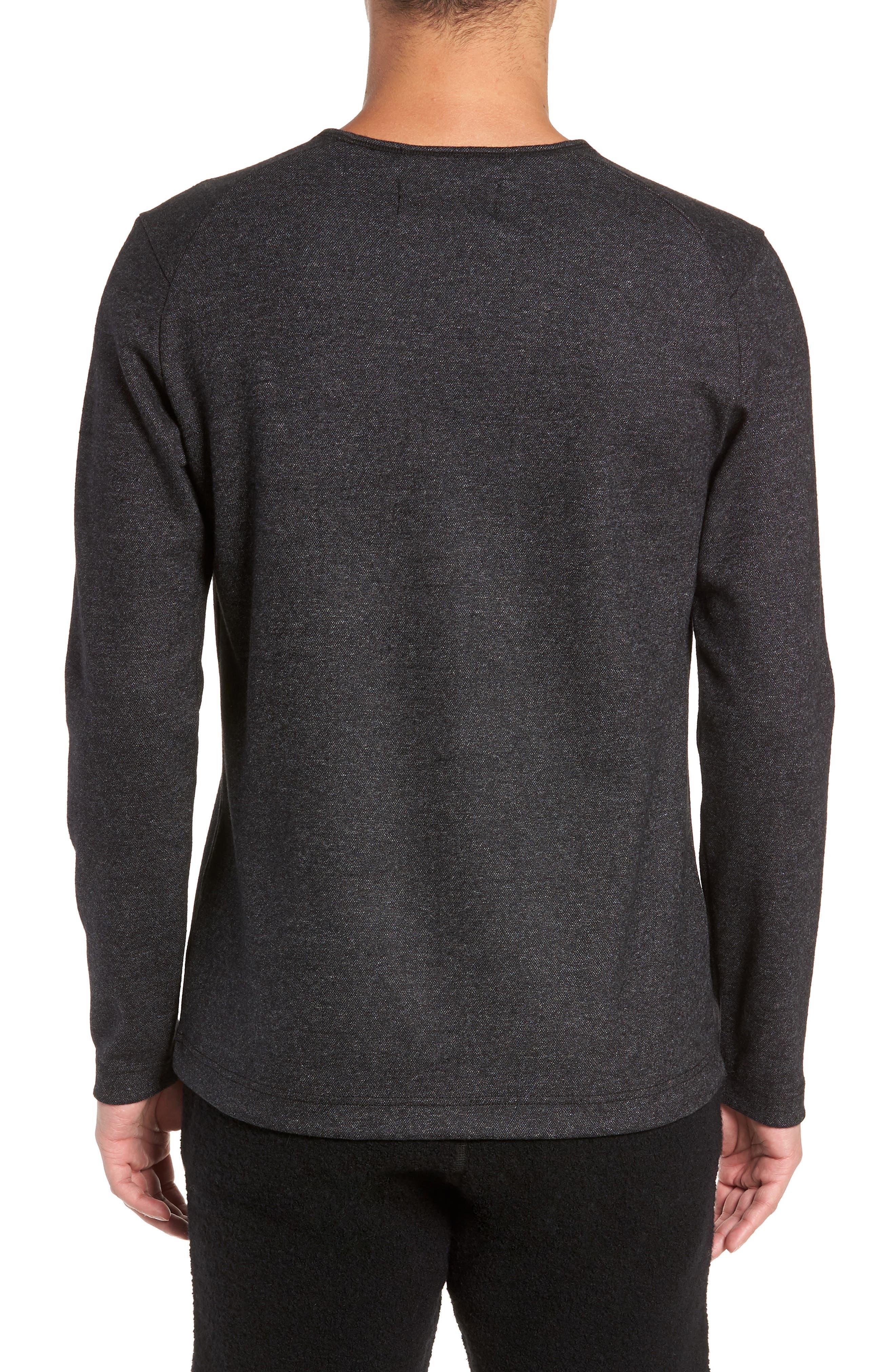 Crewneck Wool Blend Sweater,                             Alternate thumbnail 2, color,                             MEDIUM BLACK