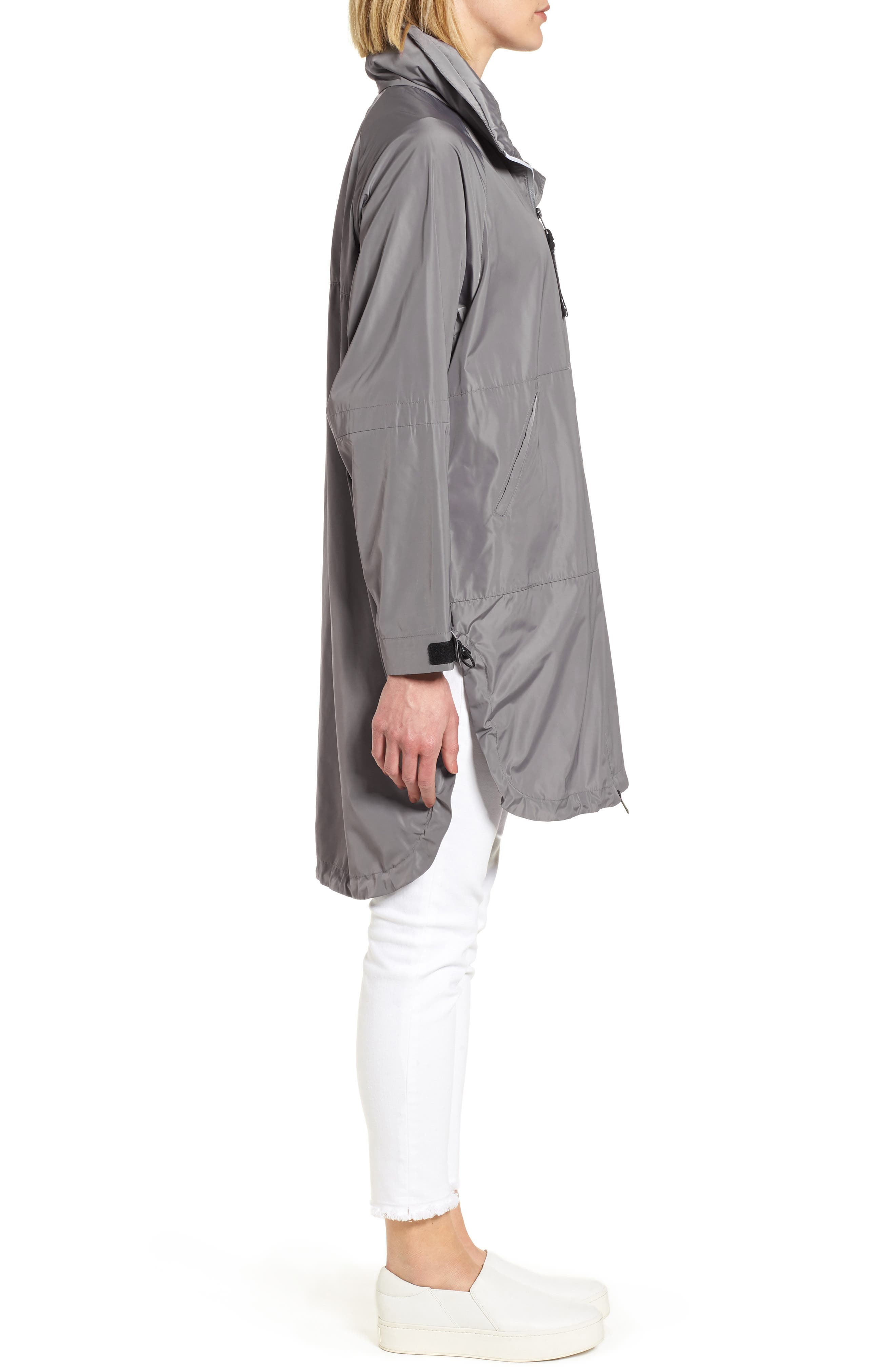 Poly-Luxe Packable Oversize Jacket,                             Alternate thumbnail 3, color,                             020