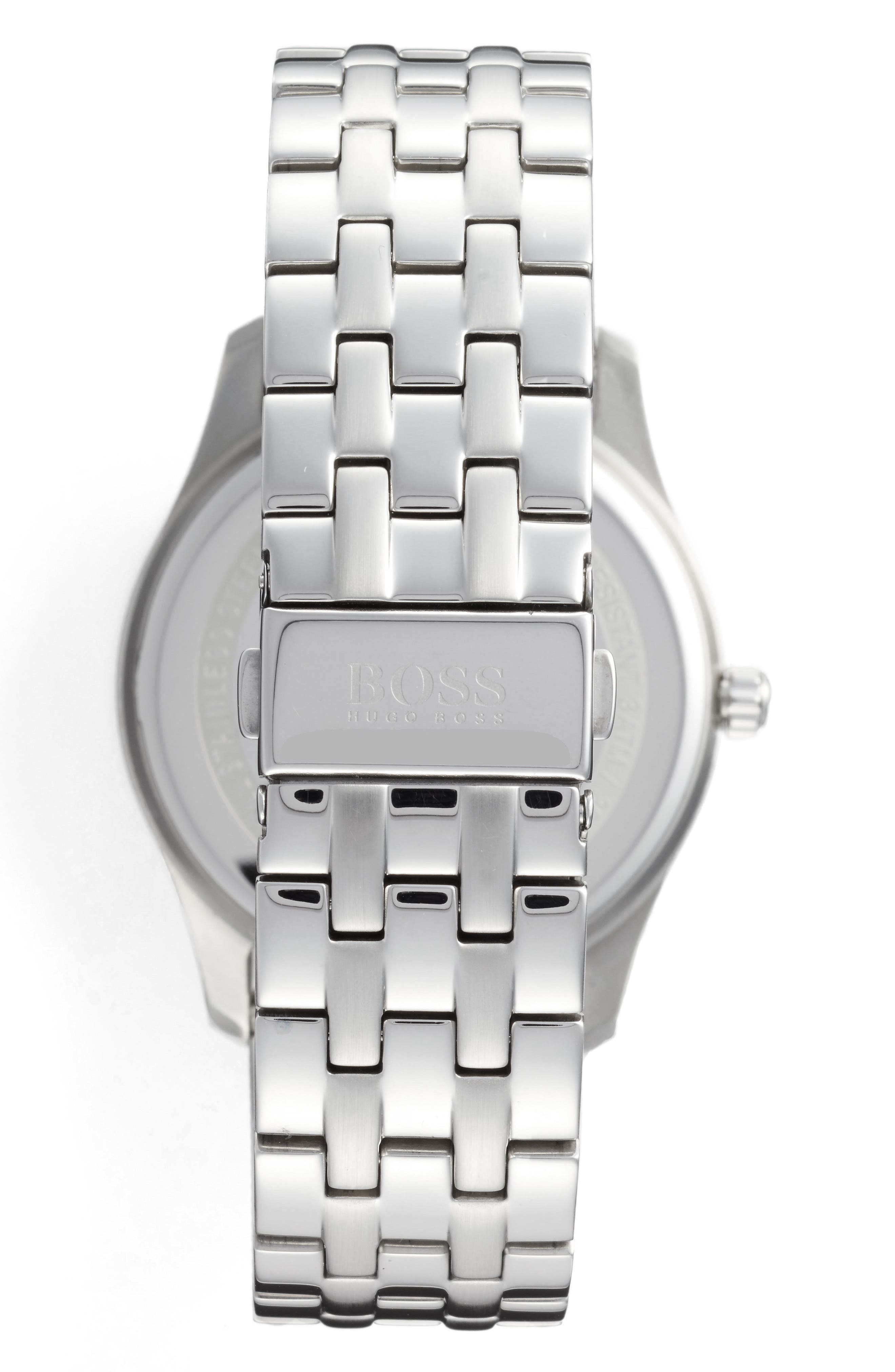 Commander Multifunction Bracelet Watch, 41mm,                             Alternate thumbnail 2, color,                             BLACK/ SILVER