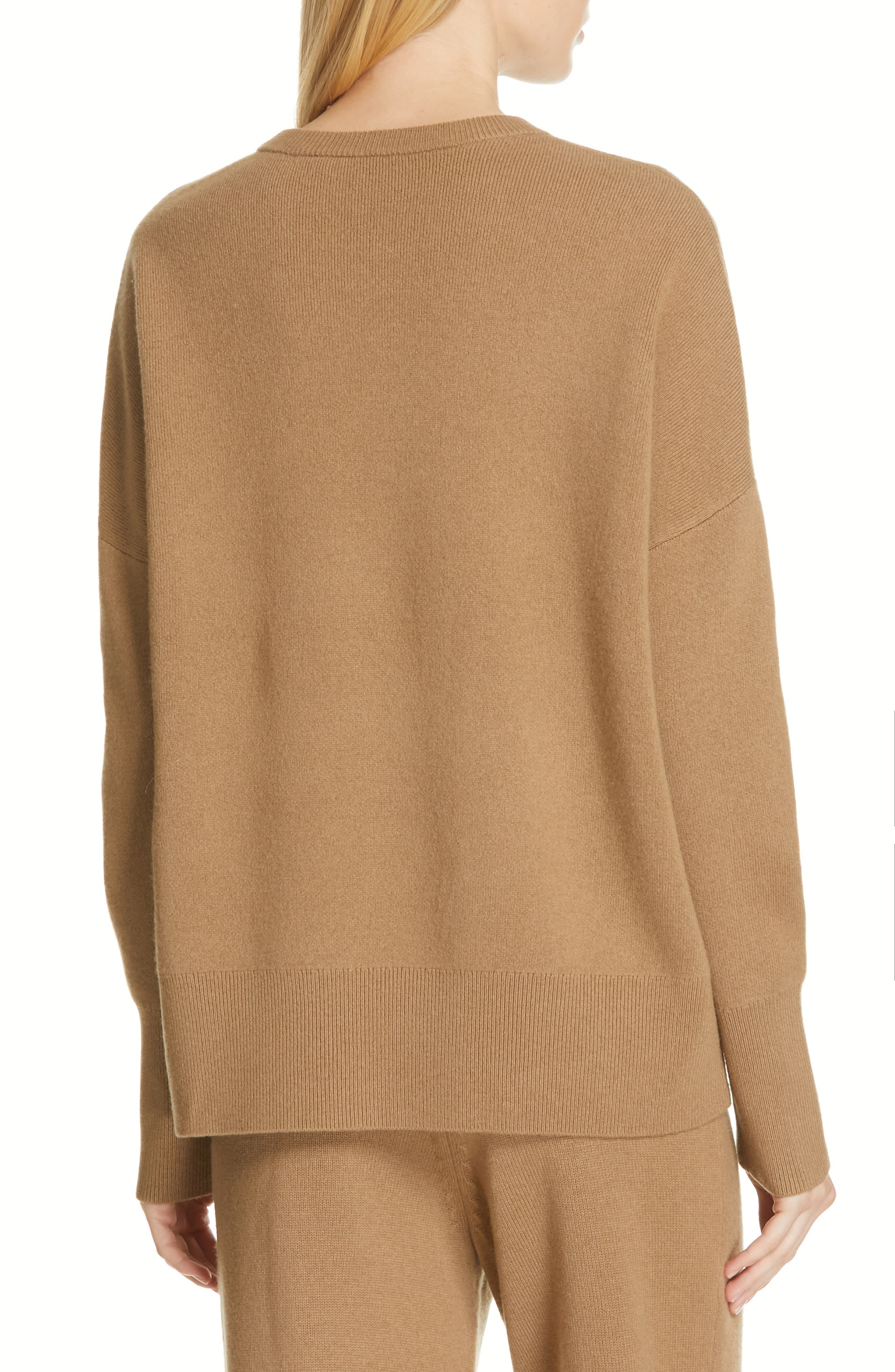 Relaxed Drop Shoulder Wool & Cashmere Sweater,                             Alternate thumbnail 2, color,                             280