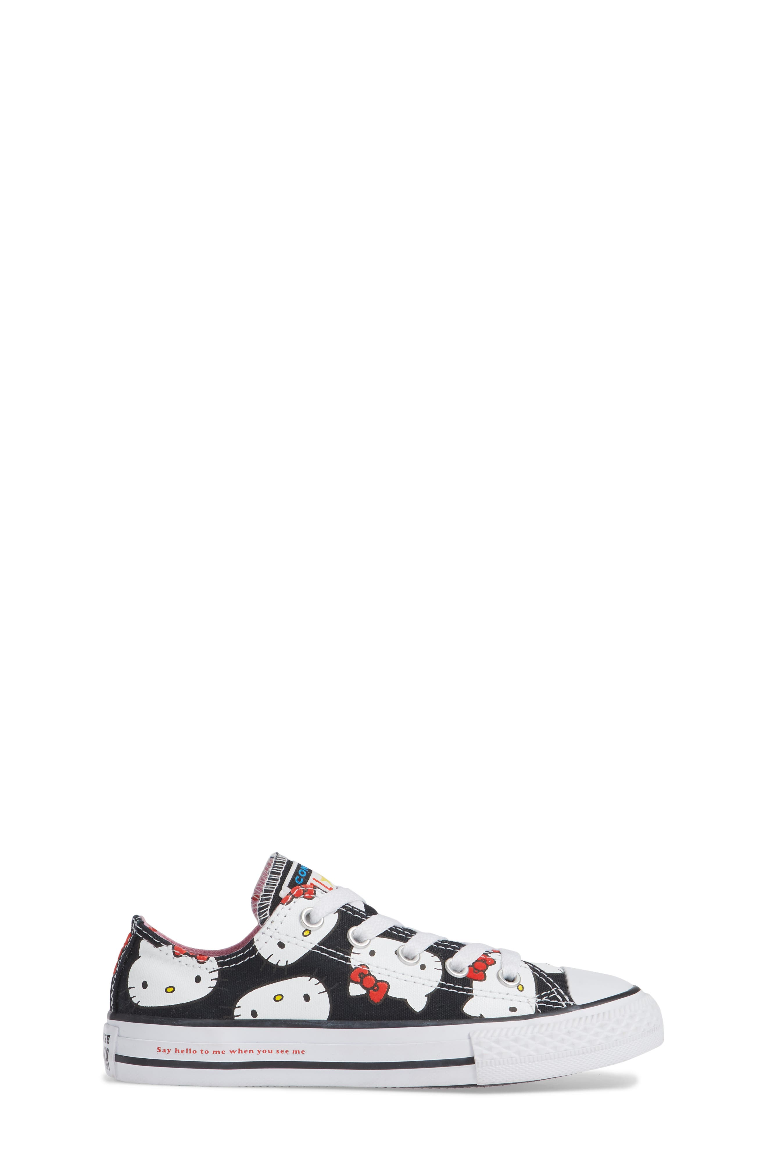 Chuck Taylor<sup>®</sup> All Star<sup>®</sup> Hello Kitty<sup>®</sup> Sneaker,                             Alternate thumbnail 3, color,                             BLACK