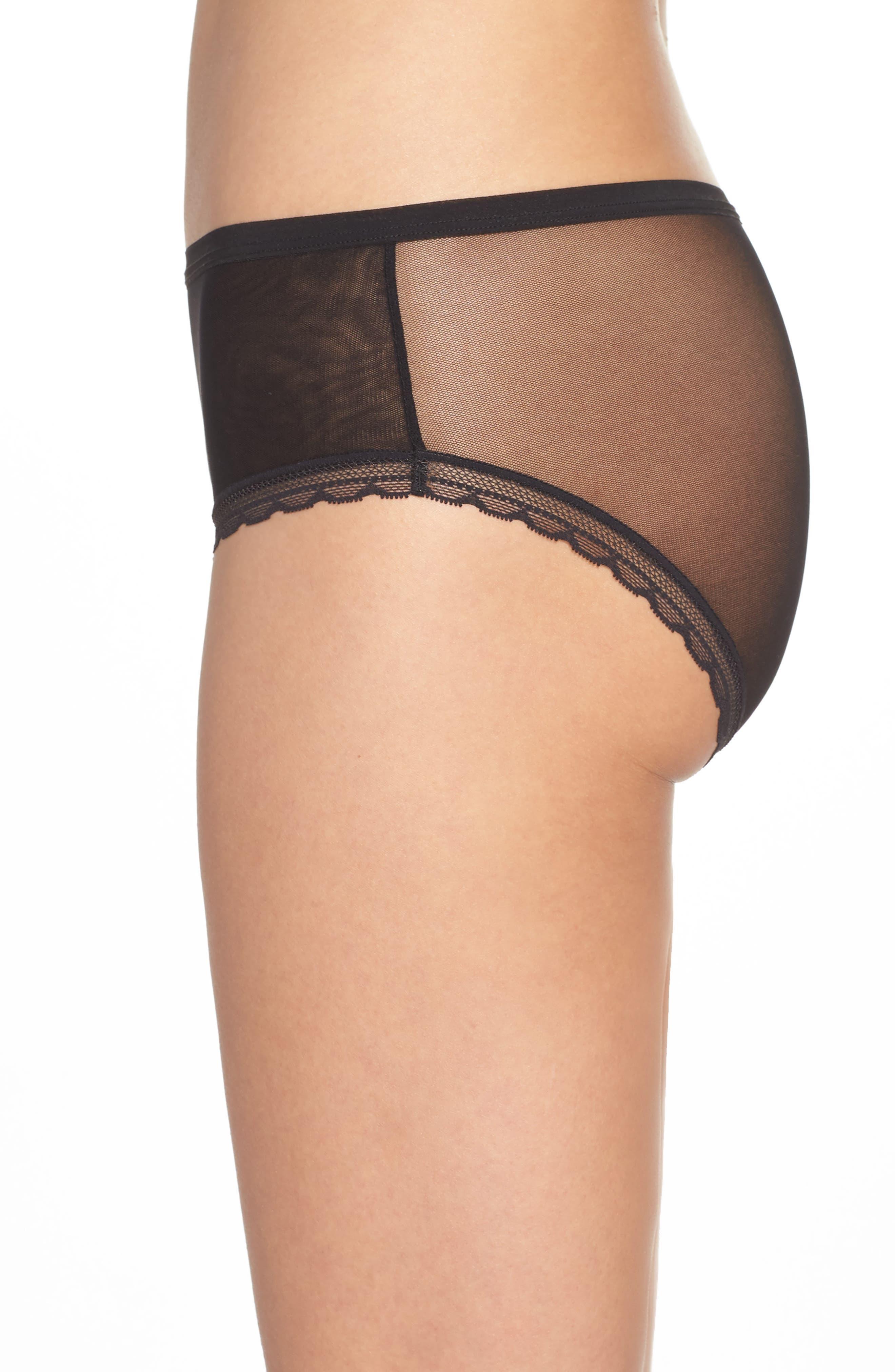 Modern Mesh Panties,                             Alternate thumbnail 3, color,                             BLACK