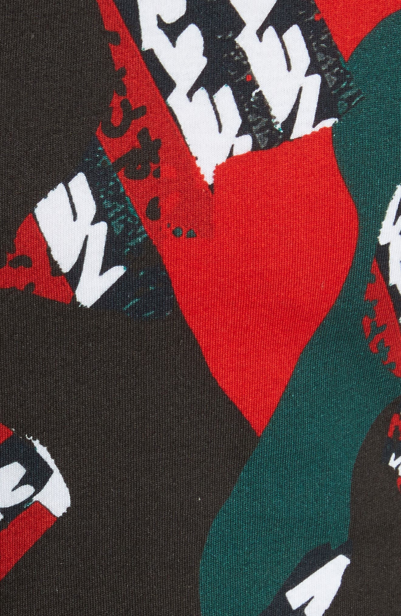 VERSUS by Versace Camo T-Shirt,                             Alternate thumbnail 5, color,                             626