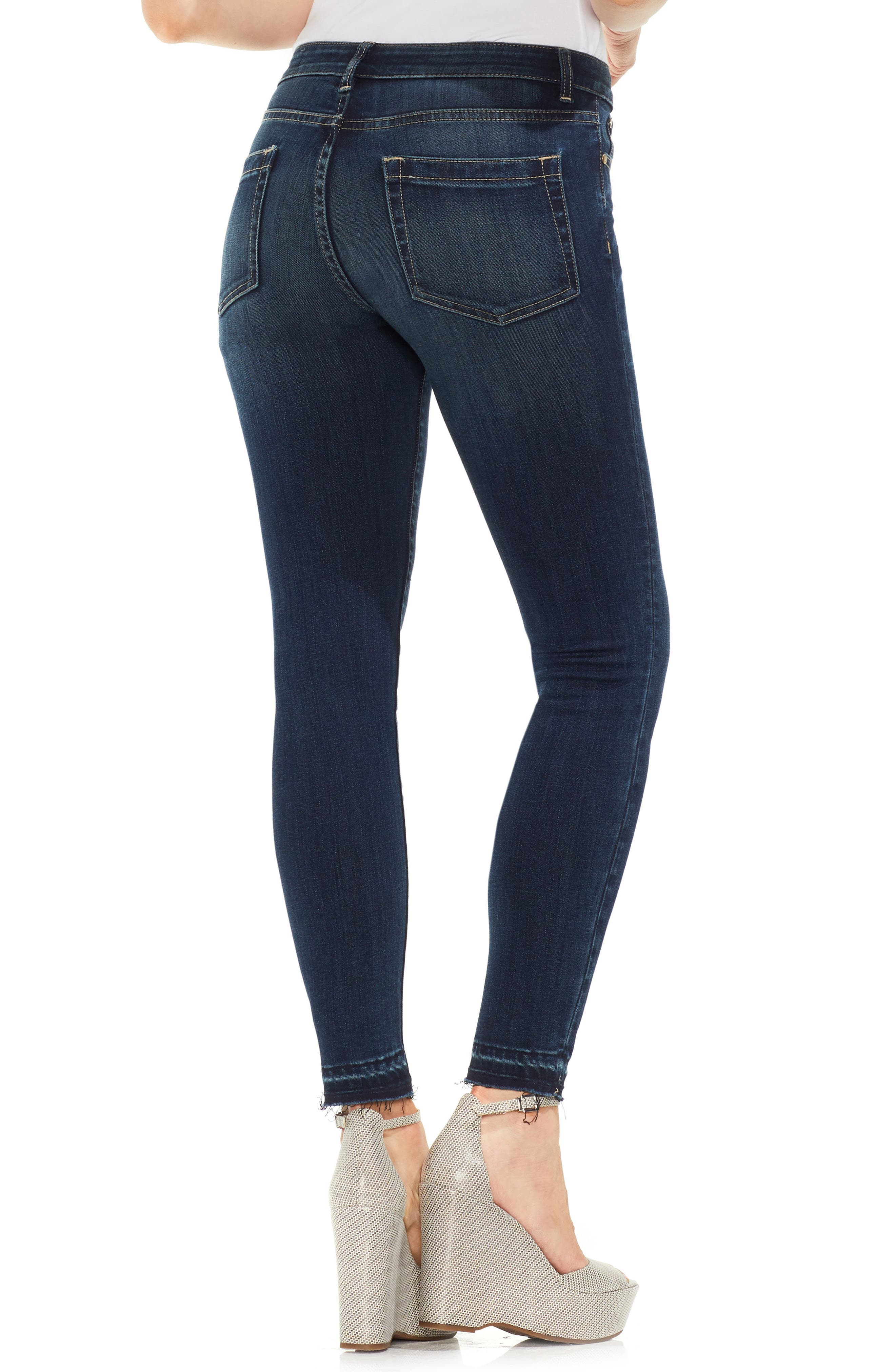 Release Hem Skinny Jeans,                             Alternate thumbnail 2, color,                             DARK AUTHENTIC