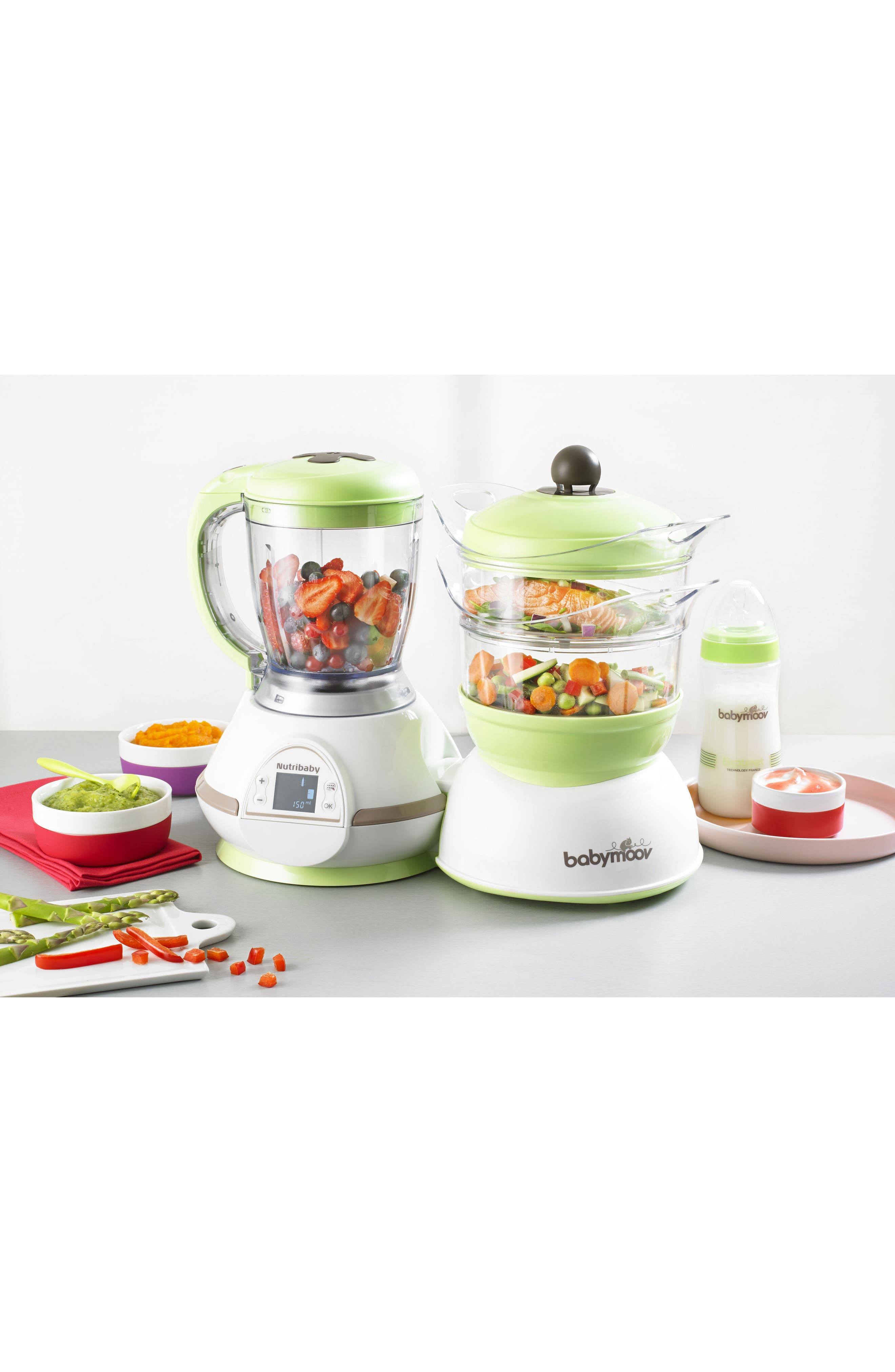 Nutribaby 5-In-1 Baby Food Maker,                             Alternate thumbnail 4, color,                             ZEN
