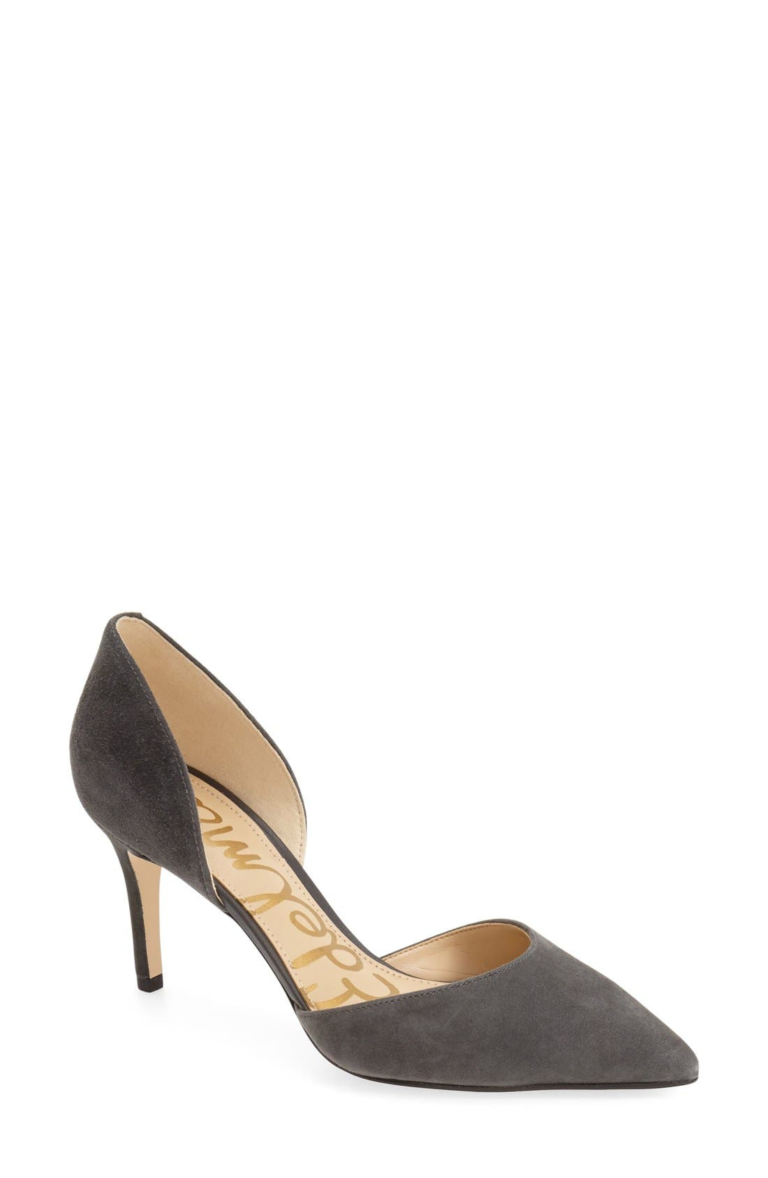 'Telsa' d'Orsay Pointy Toe Pump,                             Main thumbnail 7, color,