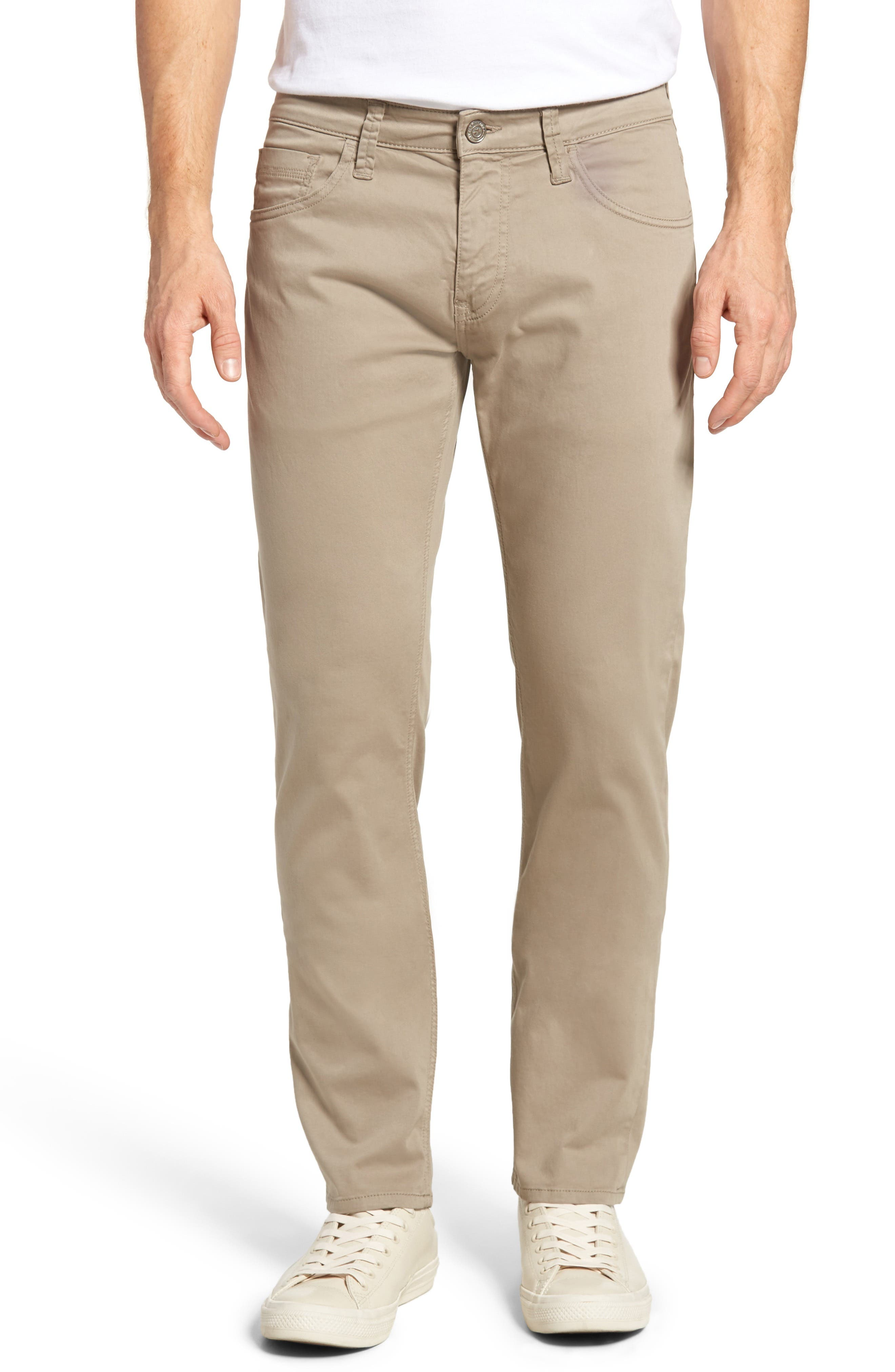 Zach Straight Leg Twill Pants,                         Main,                         color, BEIGE TWILL