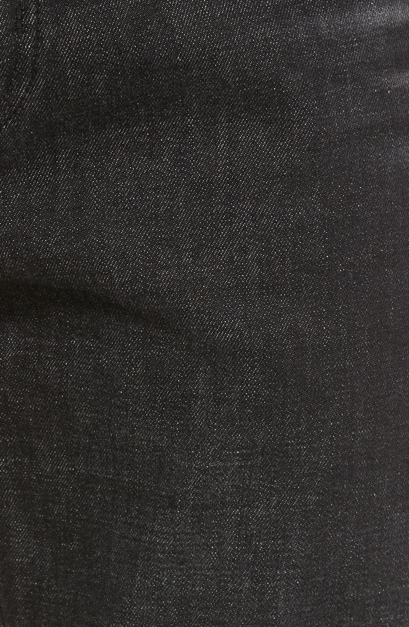 Slim Straight Leg Jeans,                             Alternate thumbnail 5, color,                             001