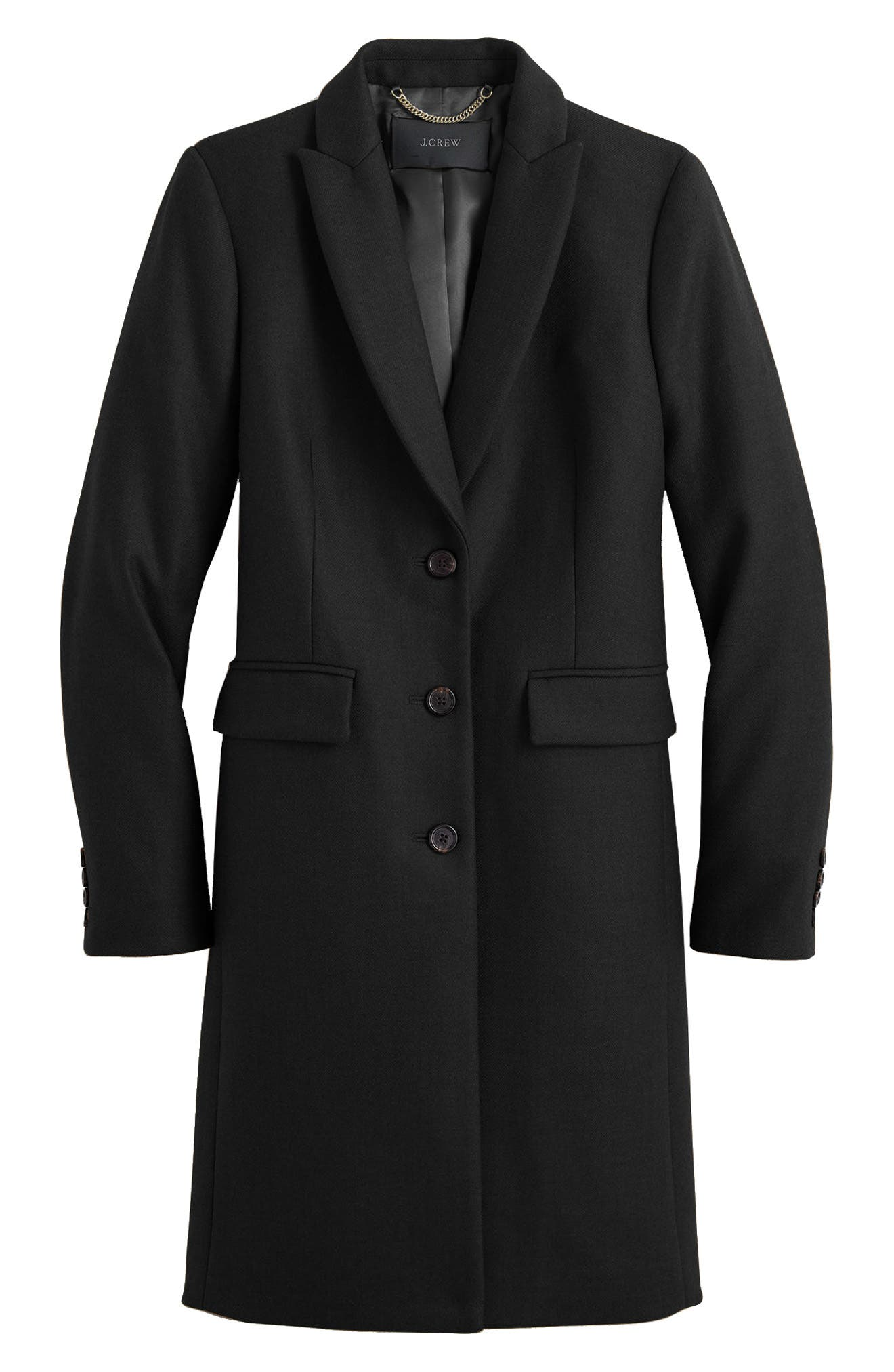 Eniko Wool Topcoat,                         Main,                         color, 001