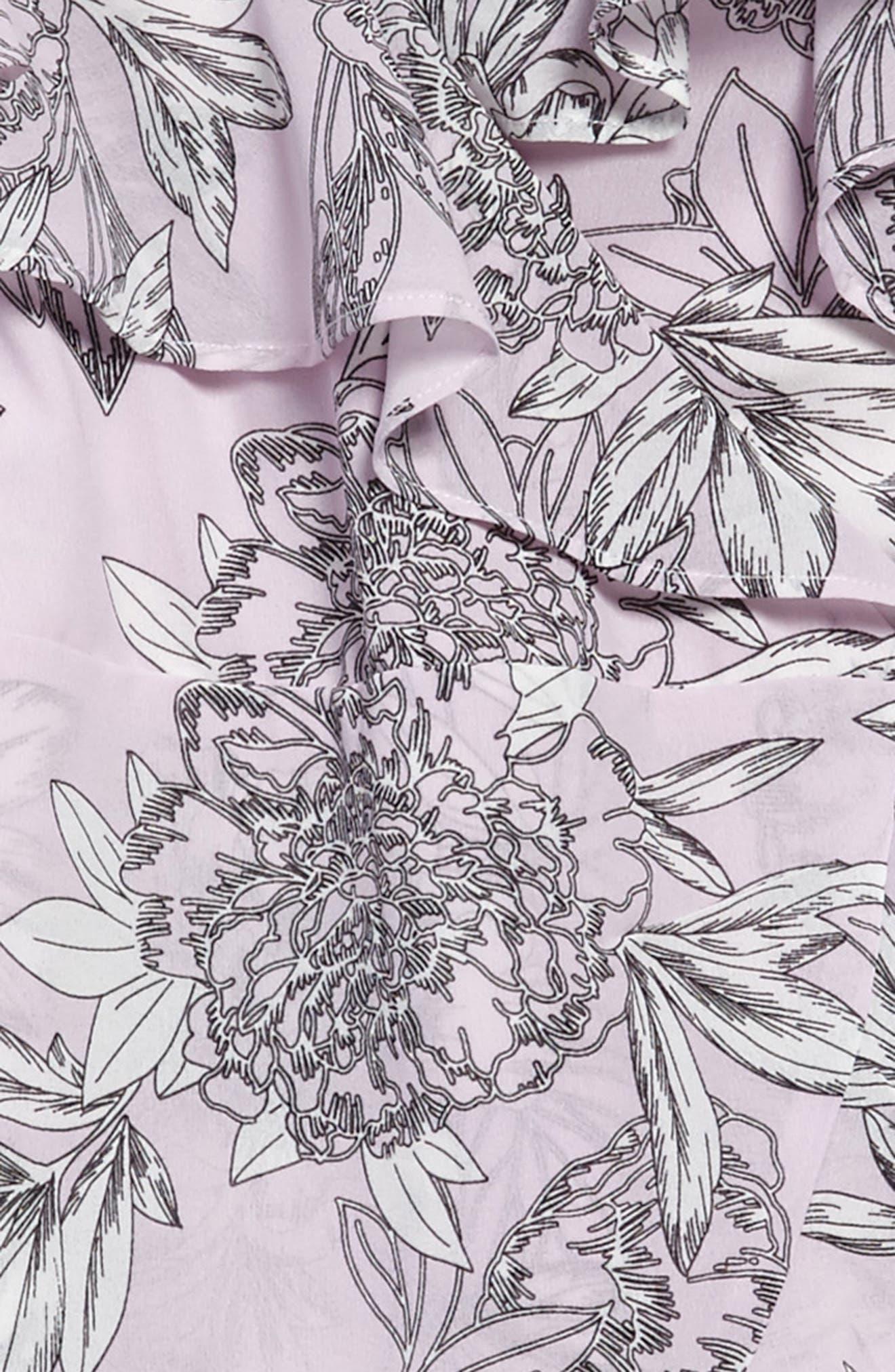 Frankie Ruffle Cold Shoulder Dress,                             Alternate thumbnail 3, color,                             028
