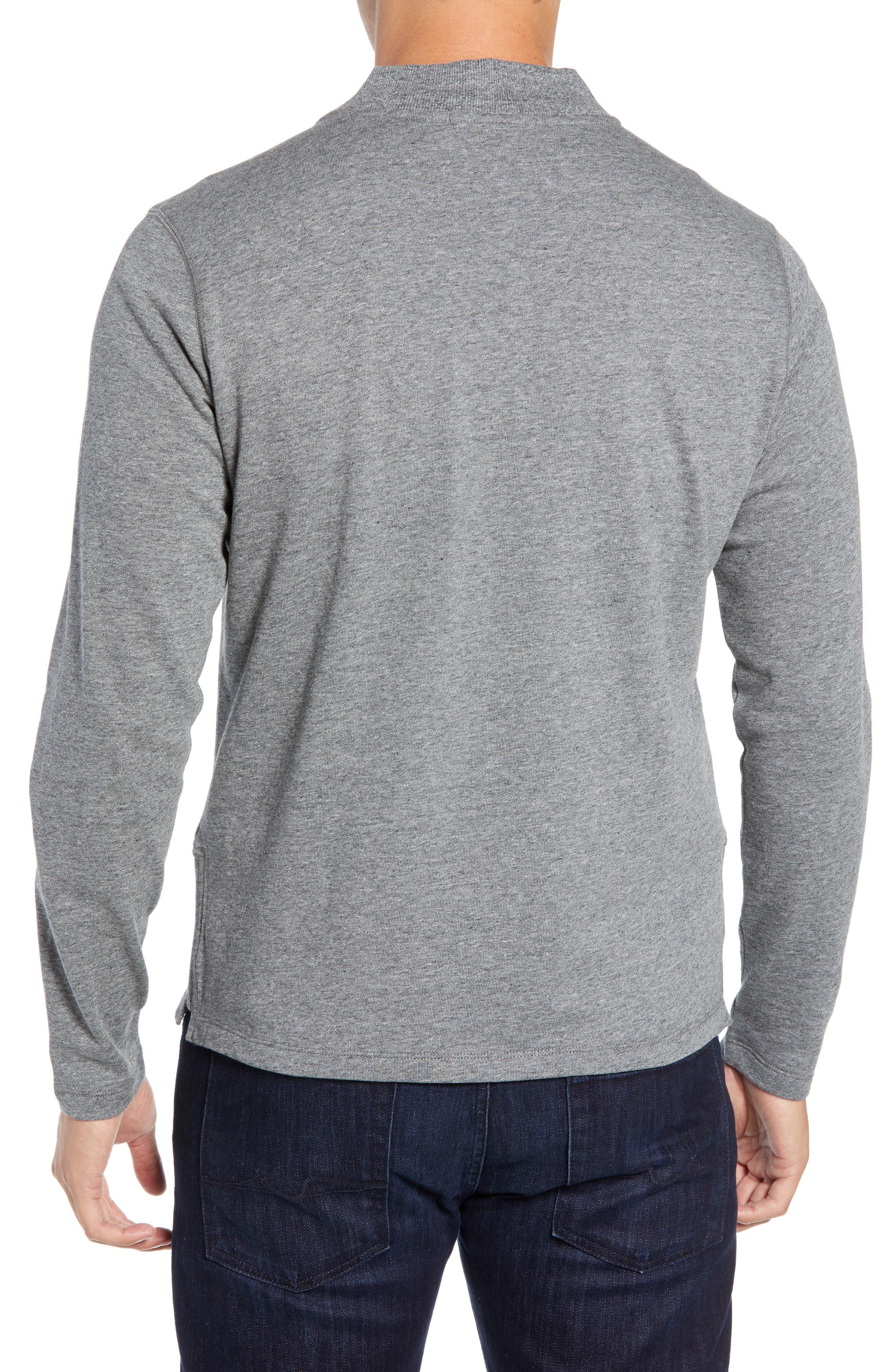 Carney Quarter Zip Sweatshirt,                             Alternate thumbnail 2, color,                             MID GREY