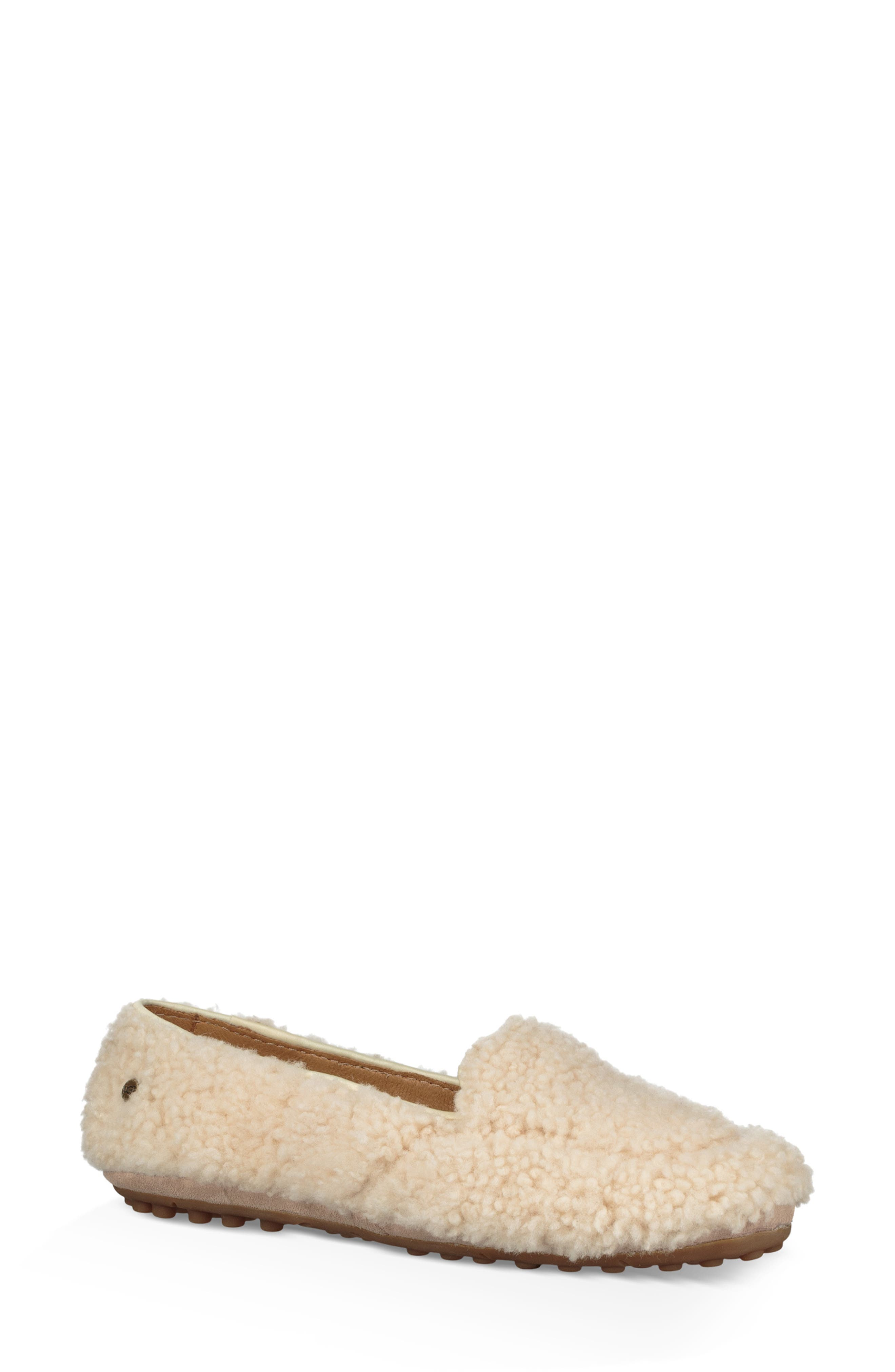 Ugg Hailey Fluff Genuine Shearling Slipper, Beige