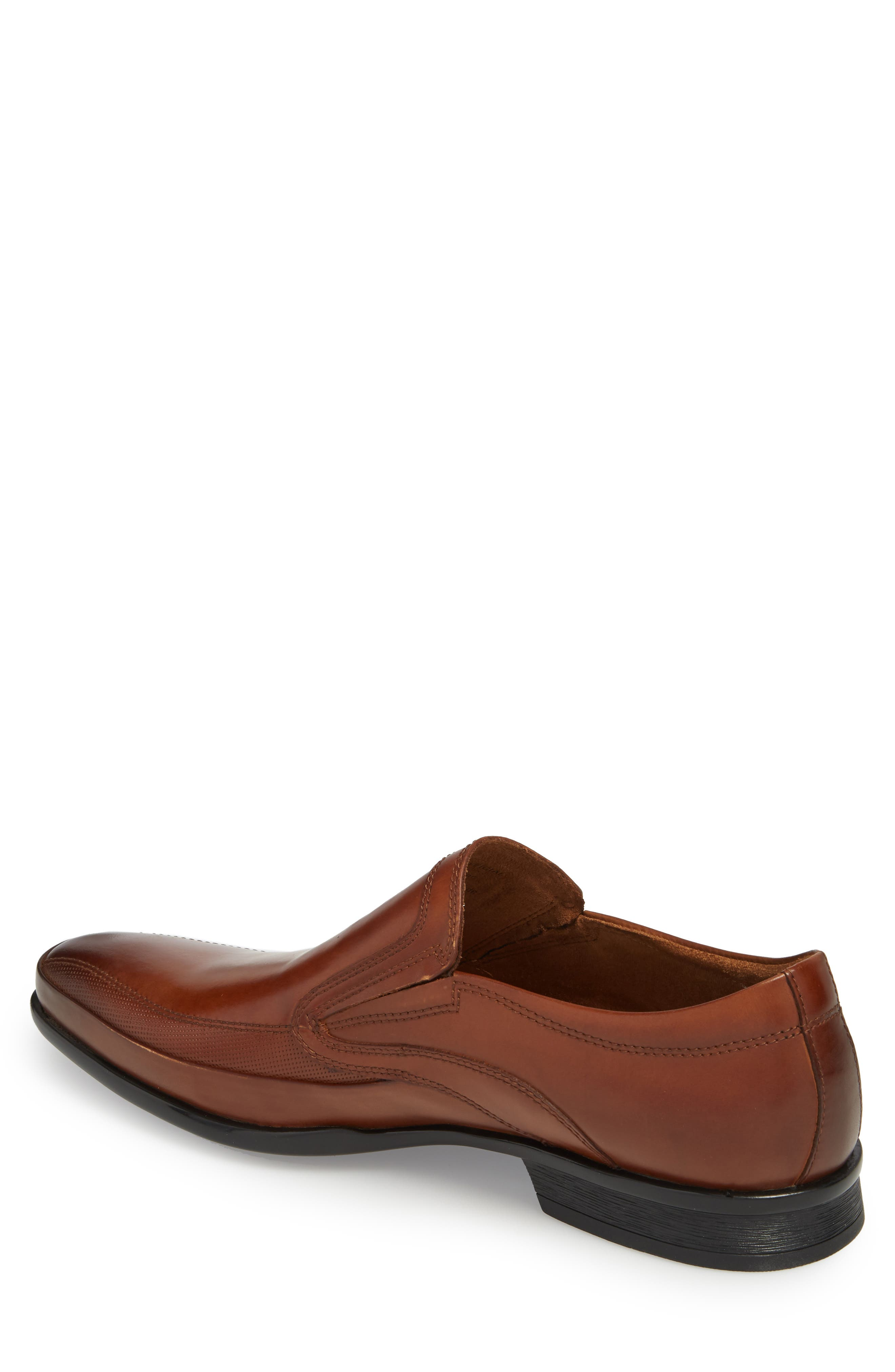 'Extra Official' Venetian Loafer,                             Alternate thumbnail 2, color,                             COGNAC LEATHER
