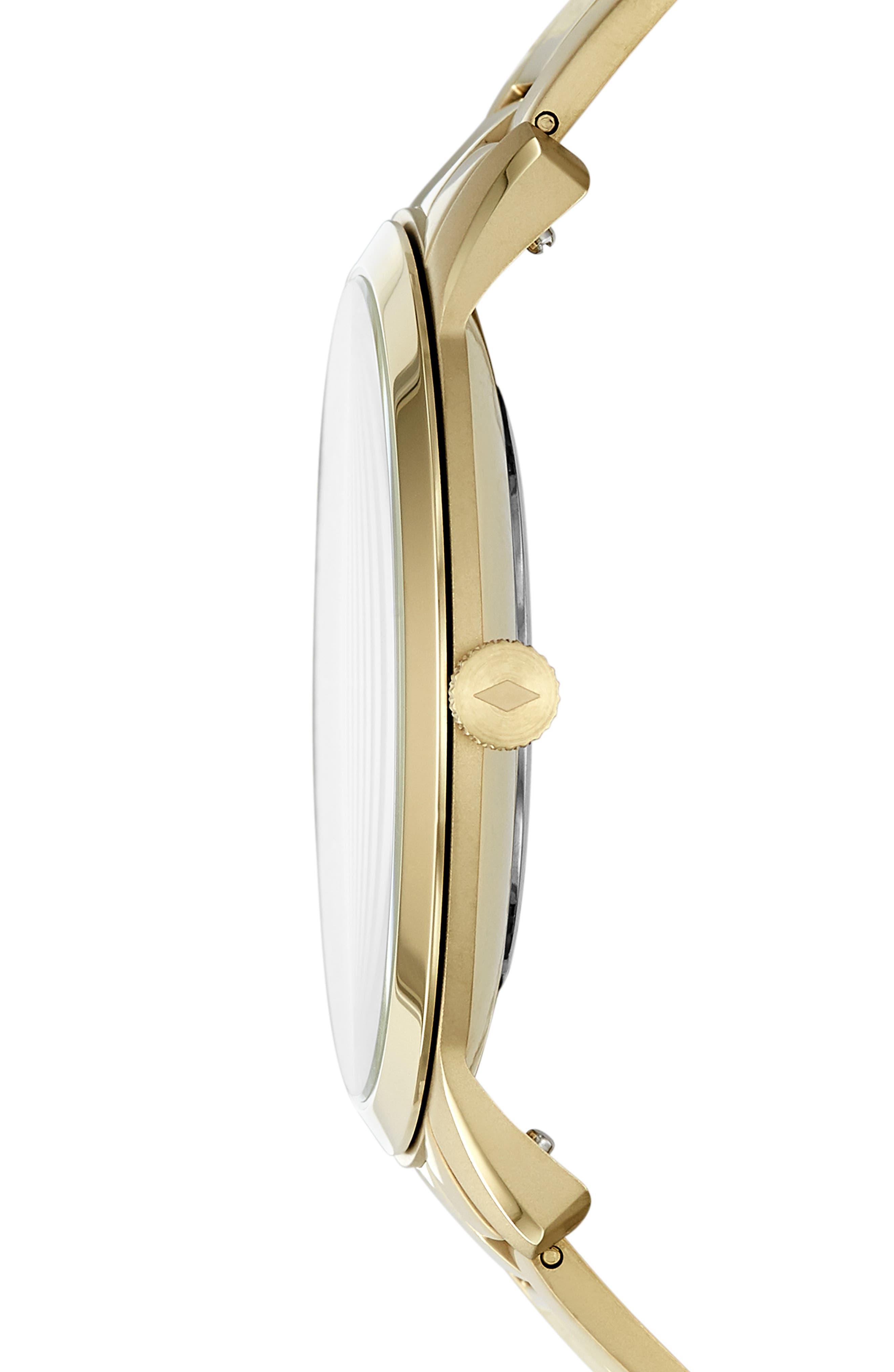 Minimalist Bracelet Watch, 44mm,                             Alternate thumbnail 2, color,                             GOLD
