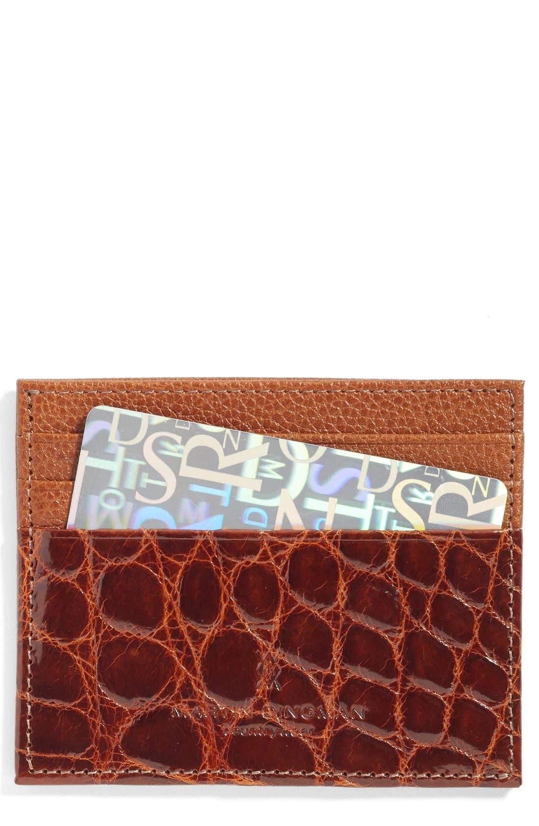 Executive Leather Card Case,                             Main thumbnail 2, color,