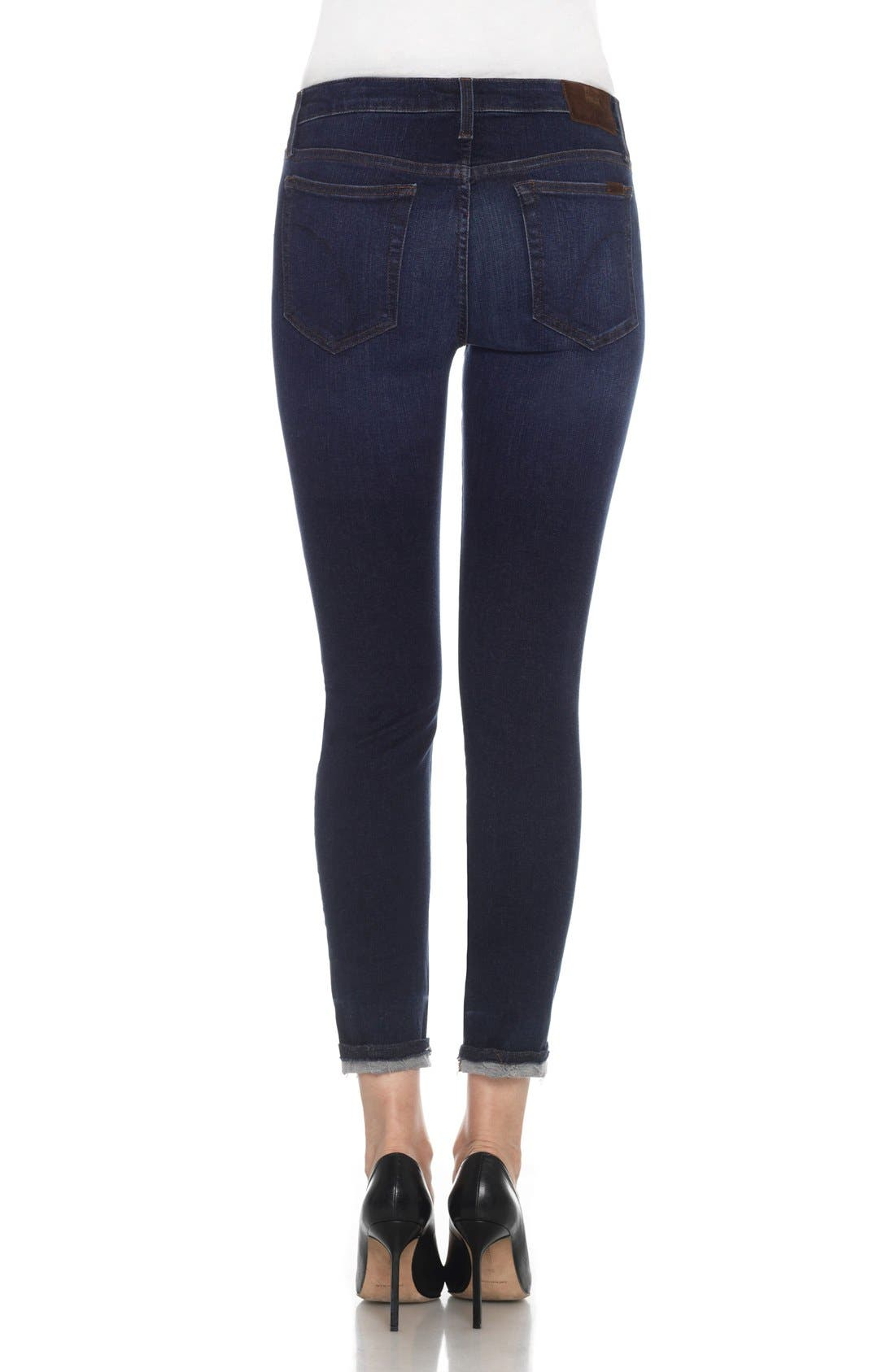 Flawless - Markie Crop Skinny Jeans,                             Alternate thumbnail 5, color,                             400