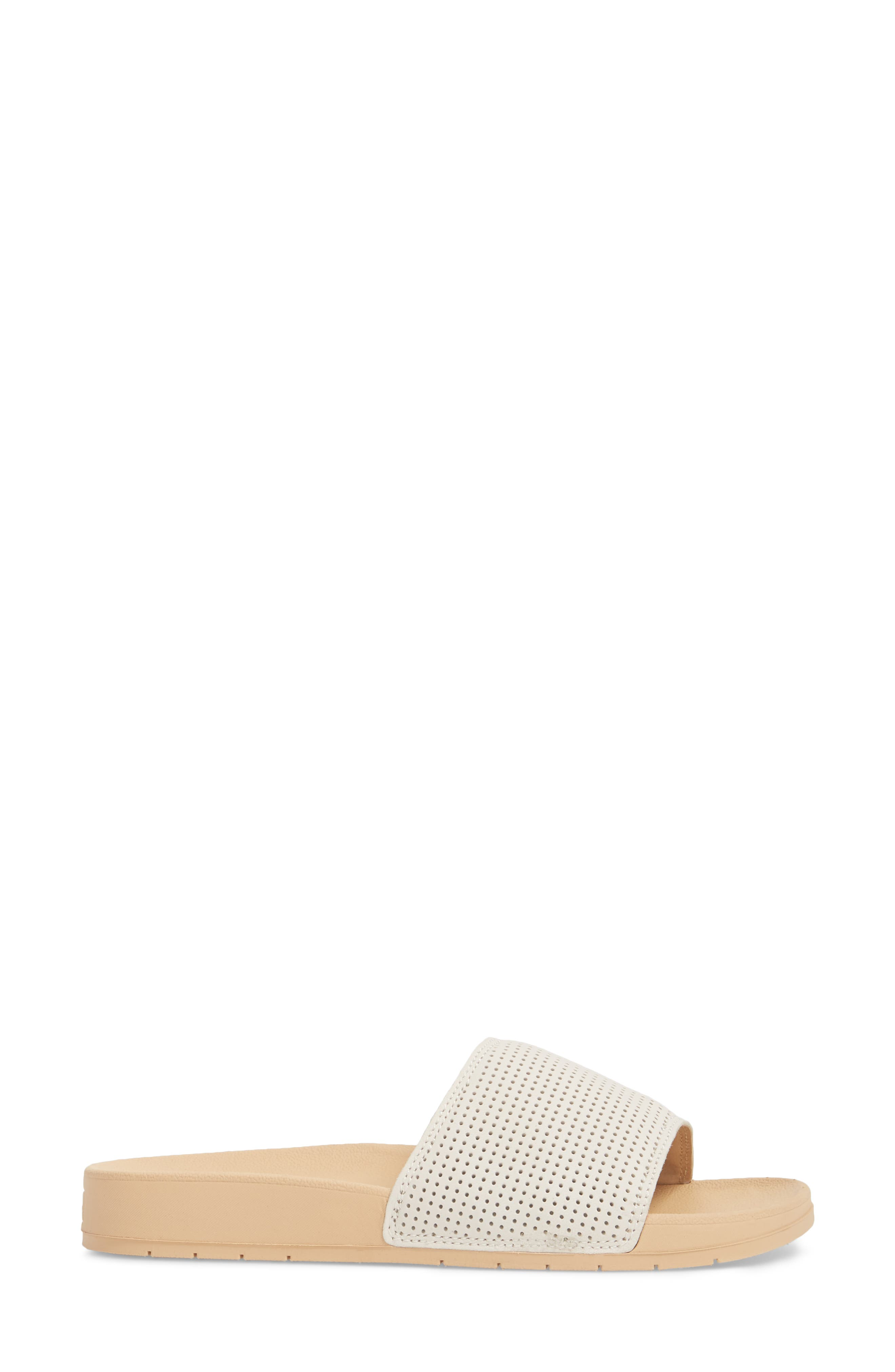 x Designlovefest Bliss Slide Sandal,                             Alternate thumbnail 3, color,                             CREAM/ TAN
