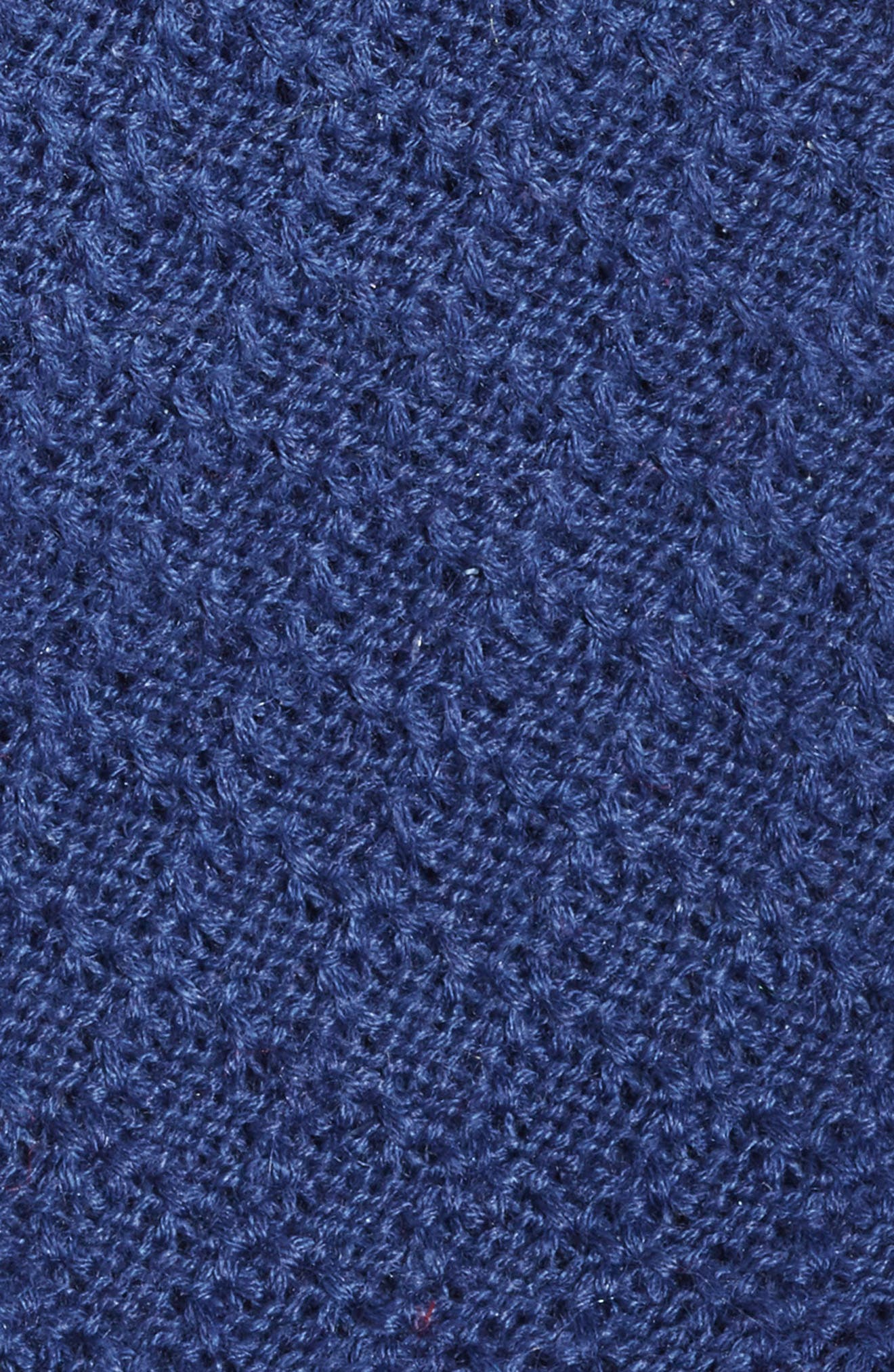 Knit Linen & Cotton Tie,                             Alternate thumbnail 2, color,                             NAVY