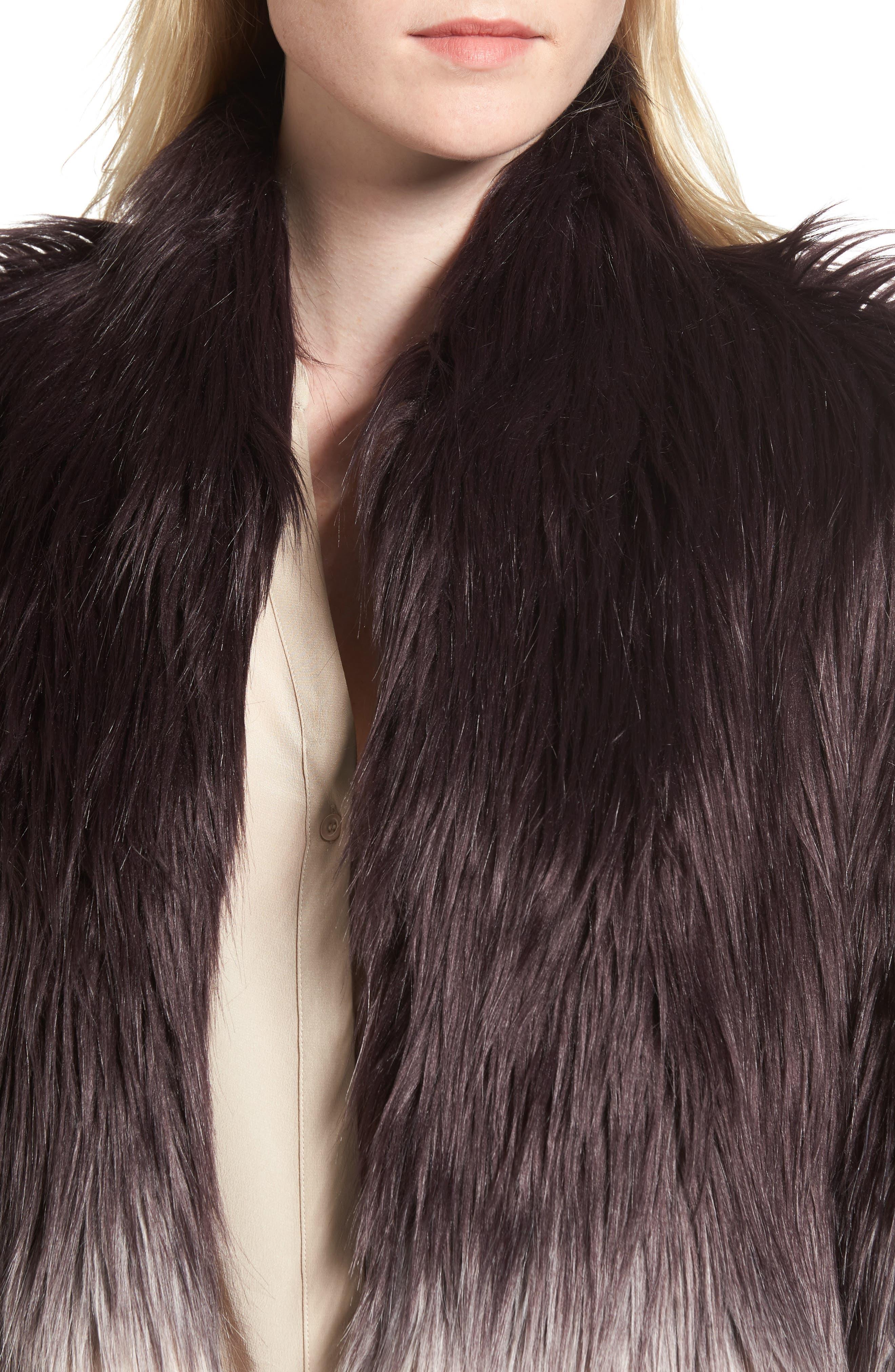 Faux Fur Jacket,                             Alternate thumbnail 4, color,                             501