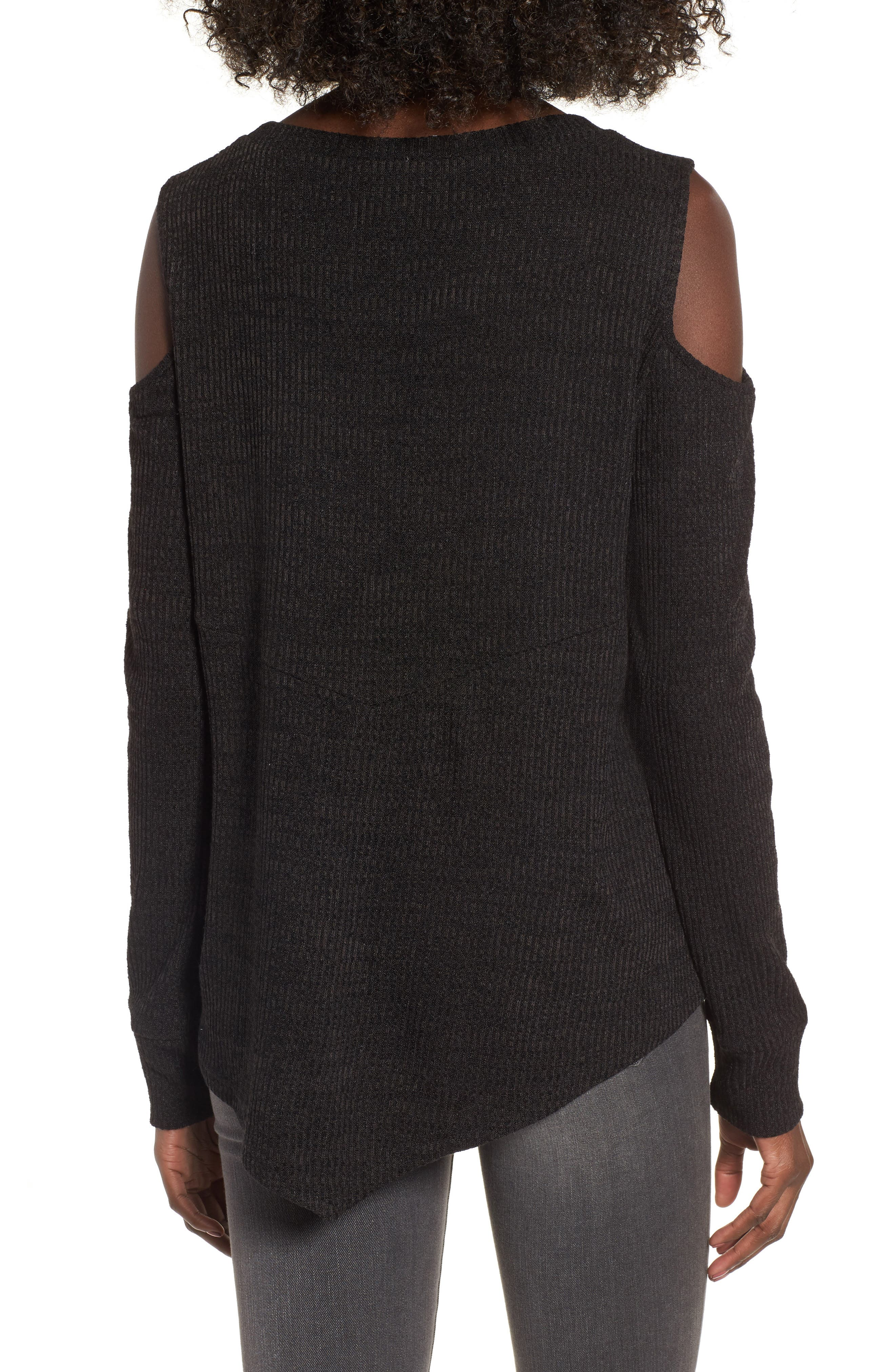 All Mine Cold Shoulder Thermal Top,                             Alternate thumbnail 2, color,                             001