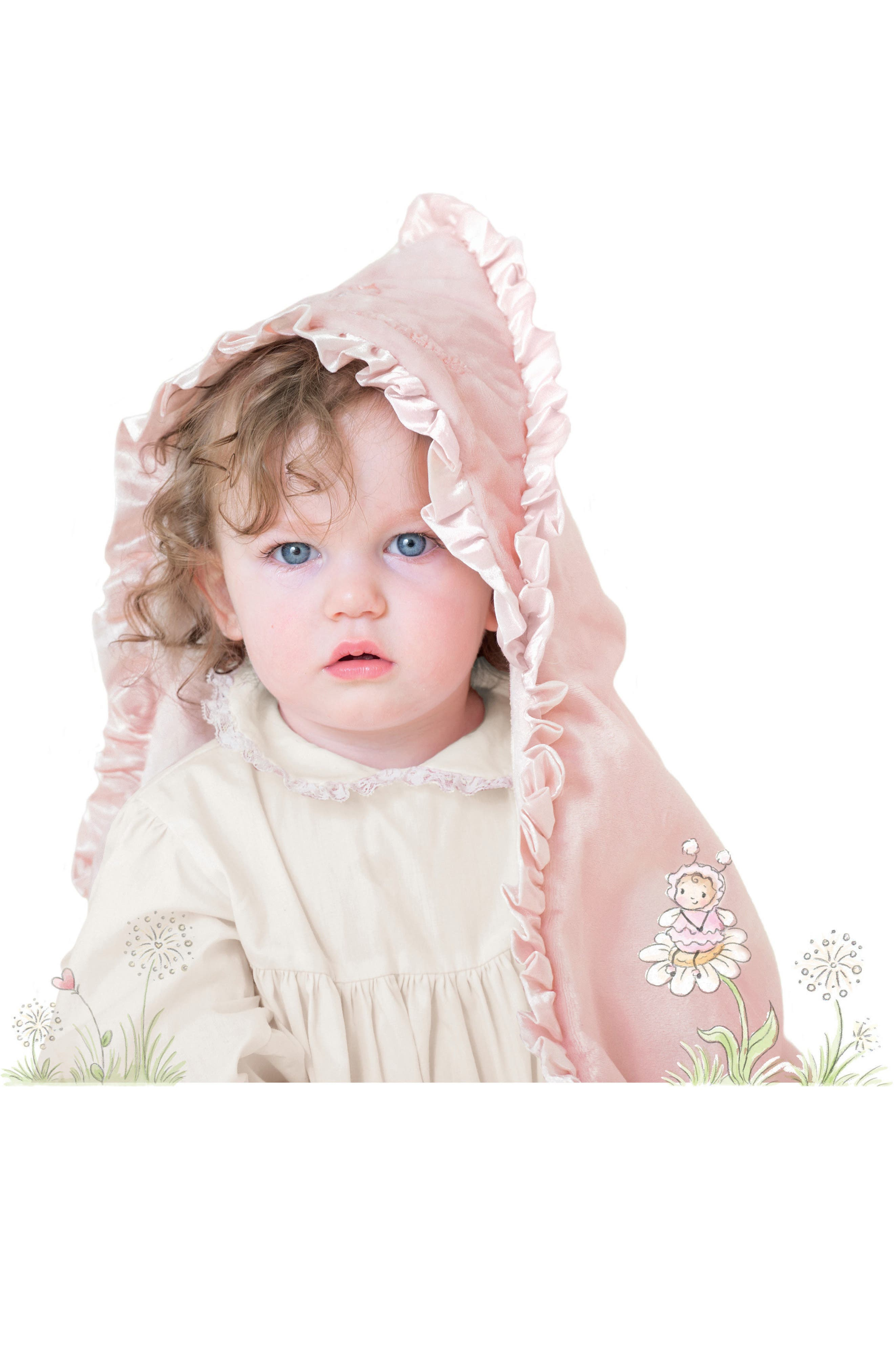 Little Curl Hooded Blanket,                             Alternate thumbnail 3, color,                             680