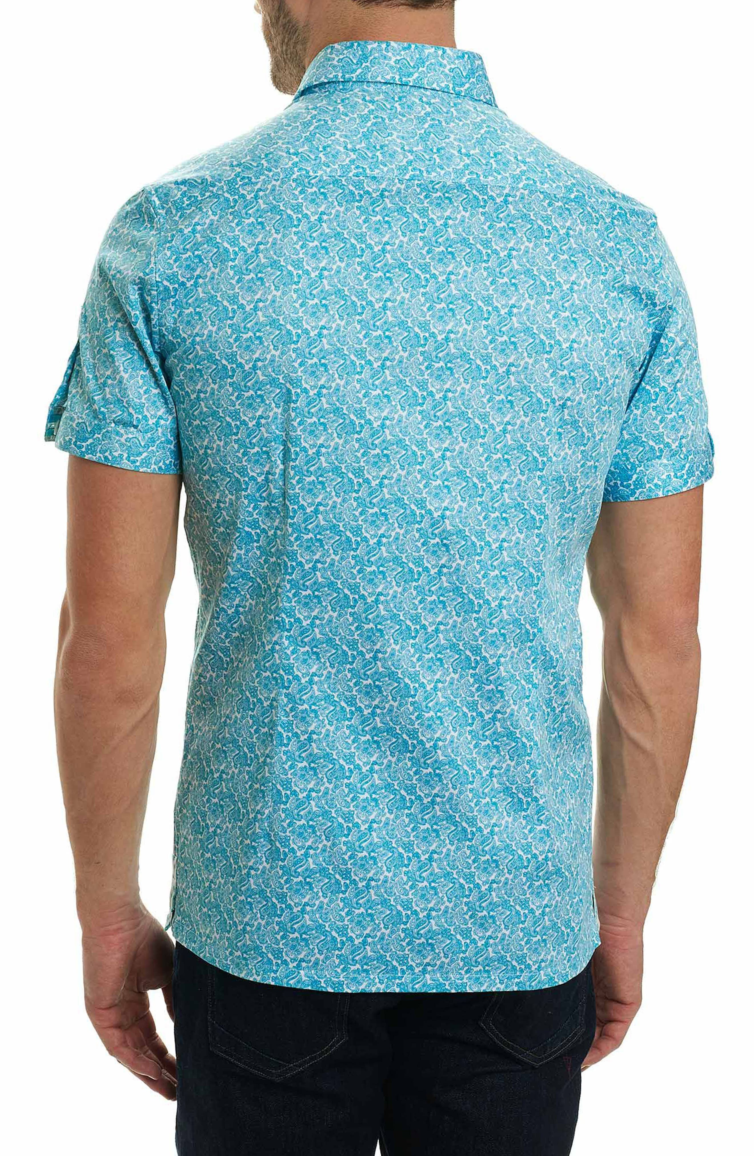 Thad Tailored Fit Paisley Sport Shirt,                             Alternate thumbnail 5, color,