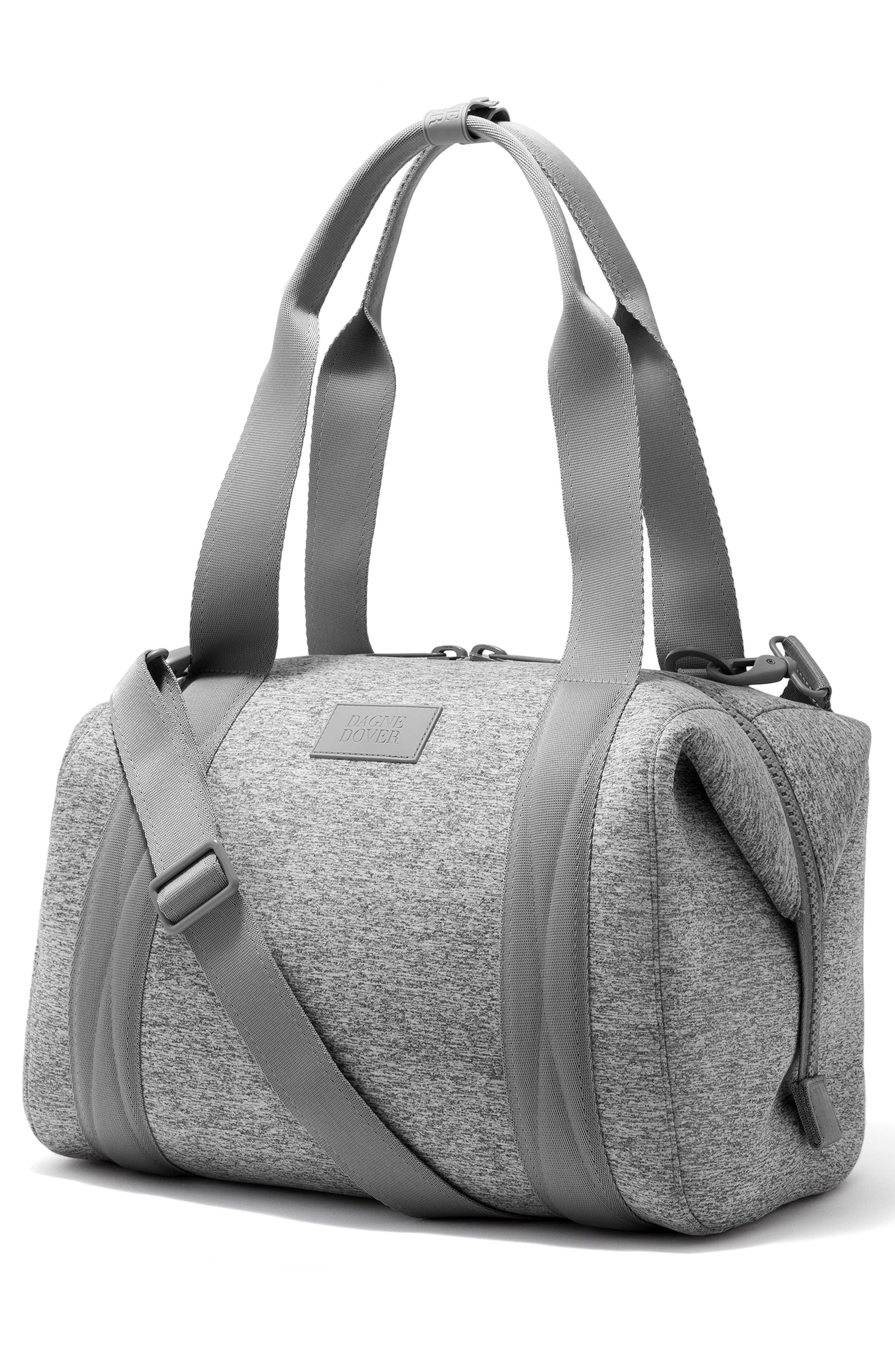 365 Medium Landon Neoprene Carryall Duffel Bag,                             Alternate thumbnail 5, color,                             HEATHER GREY