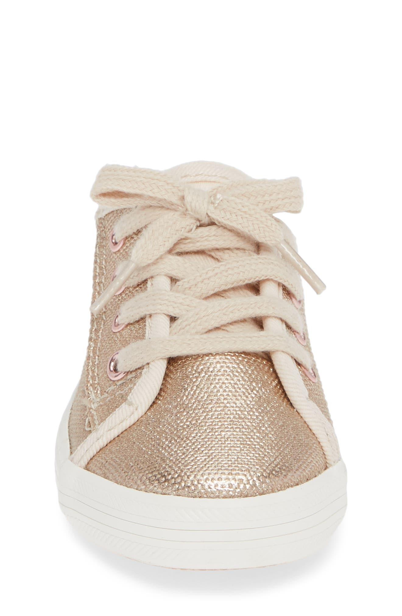Kickstart Core Metallic Sneaker,                             Alternate thumbnail 4, color,                             ROSE GOLD