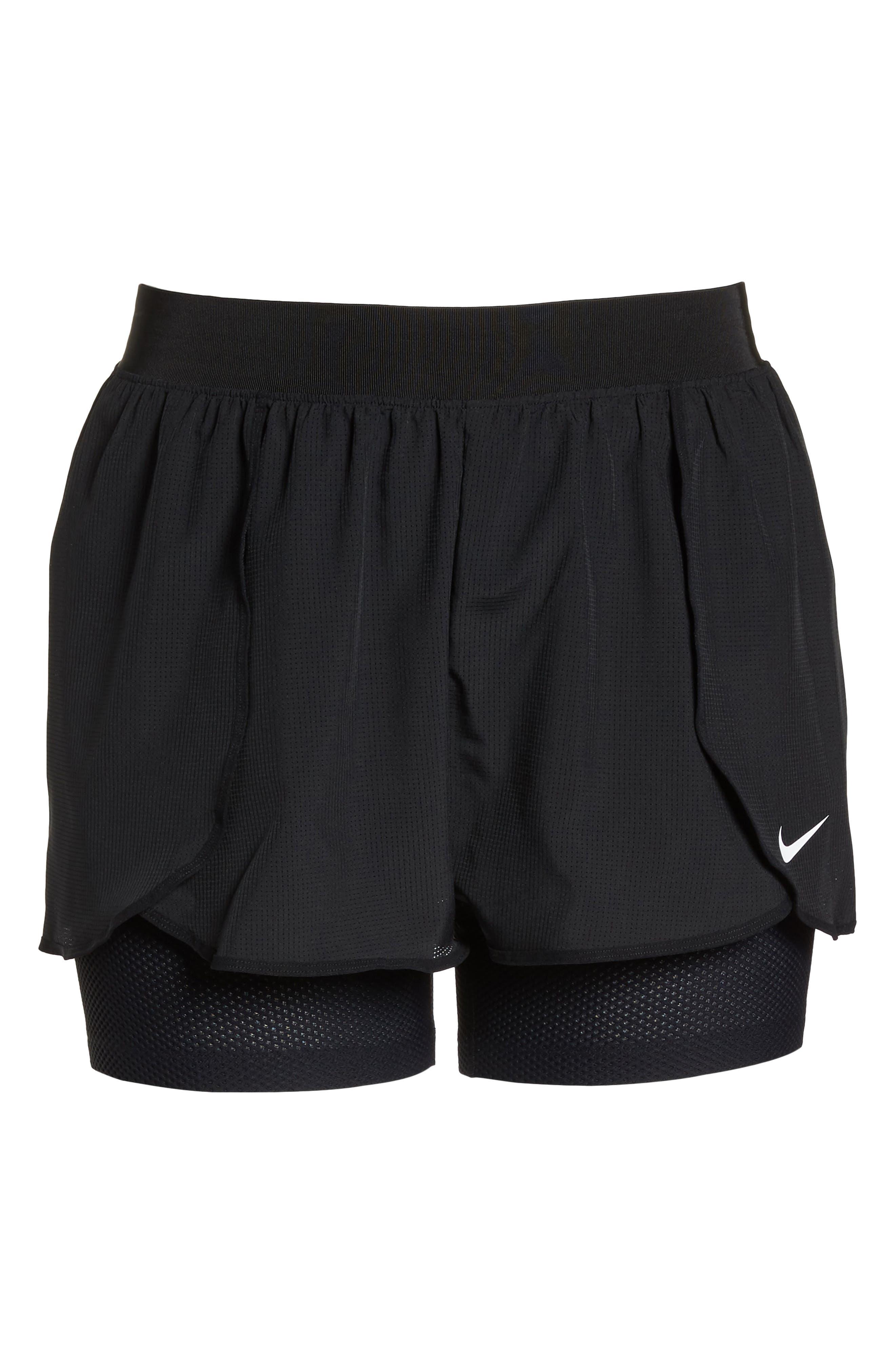 NIKE,                             Flex Bliss 2-in-1 Training Shorts,                             Alternate thumbnail 6, color,                             010