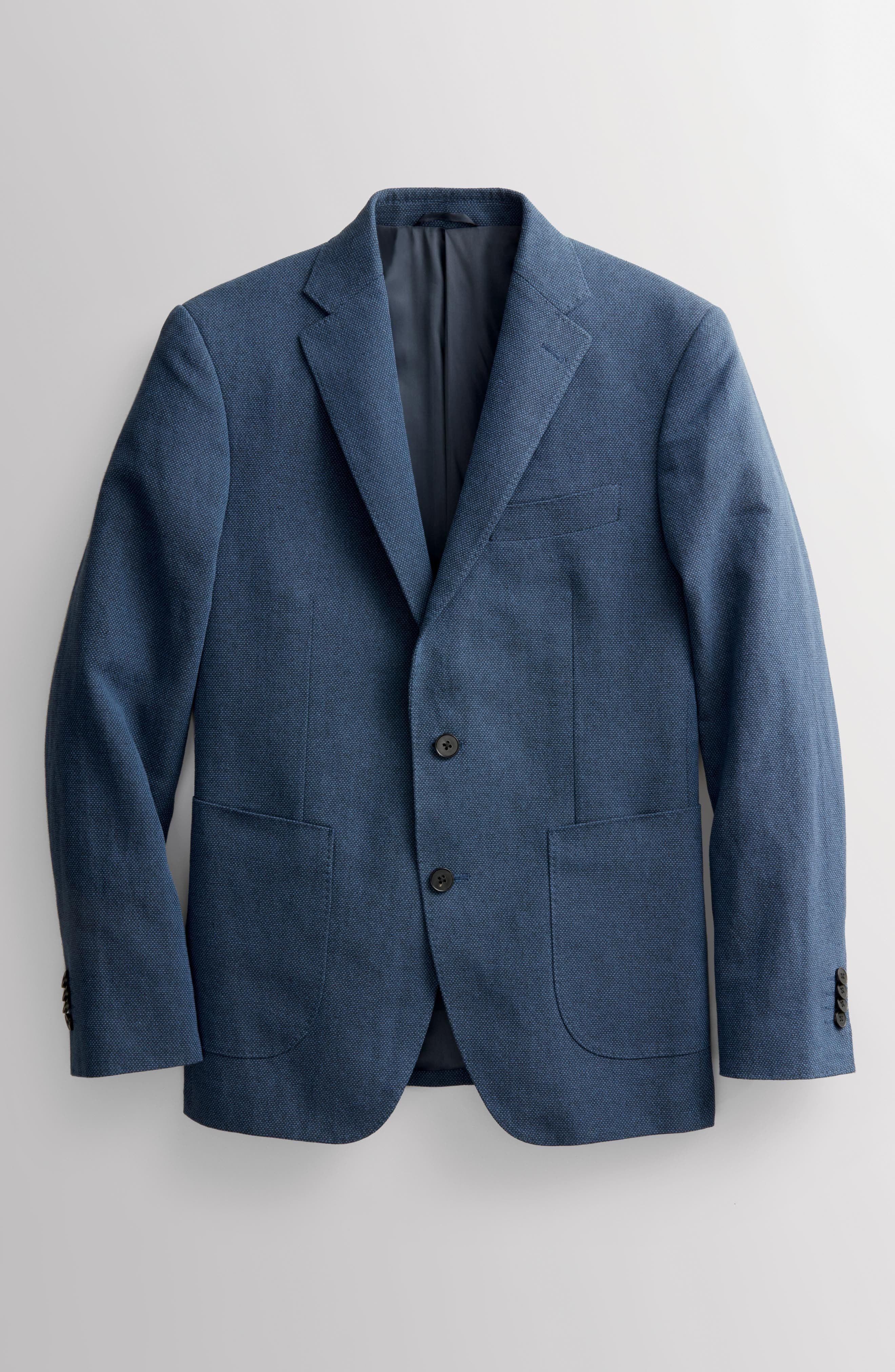 Point Break Sport Fit Cotton & Linen Blazer,                             Alternate thumbnail 7, color,                             432
