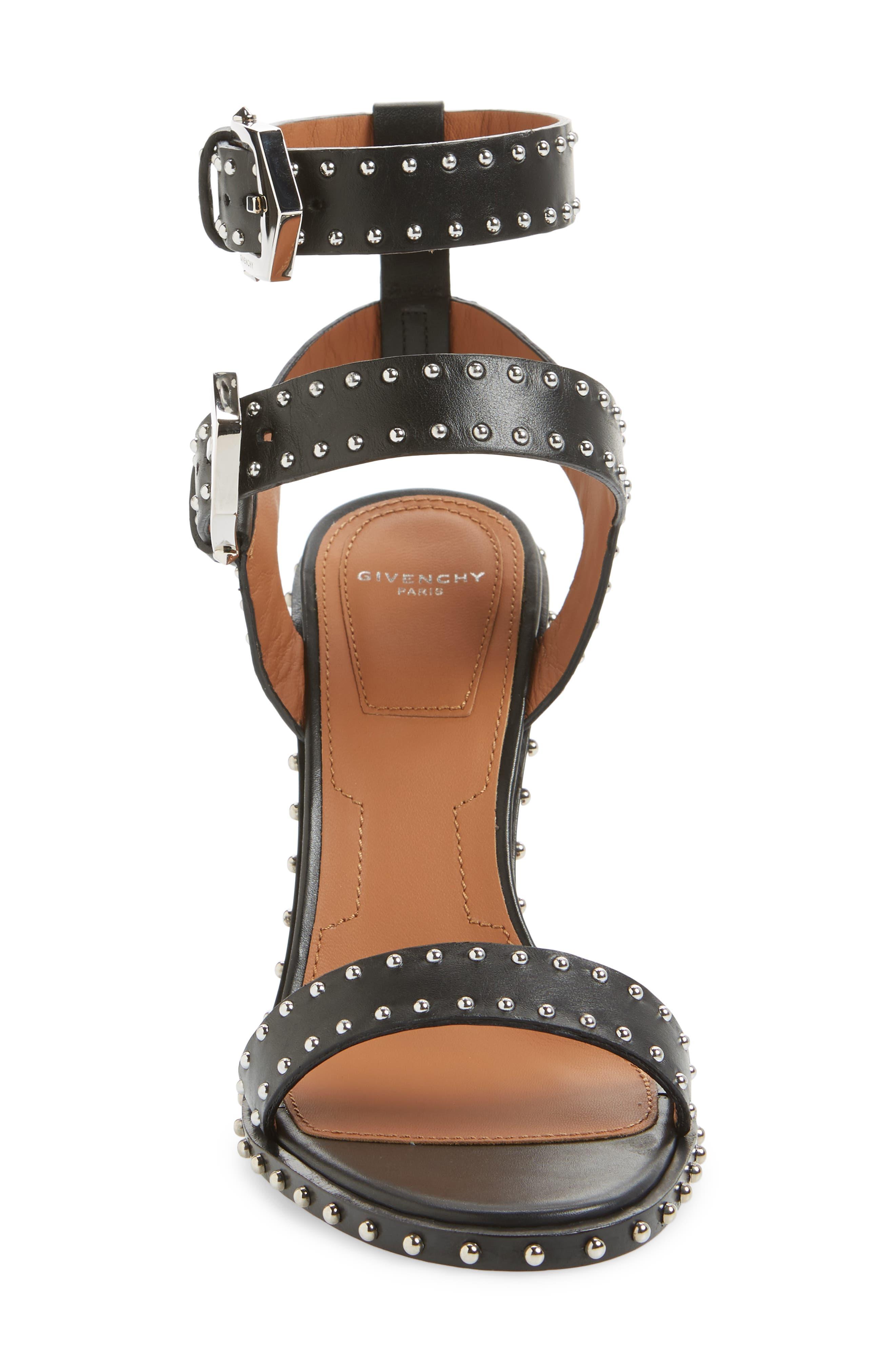 Elegant Studded Sandal,                             Alternate thumbnail 4, color,                             001