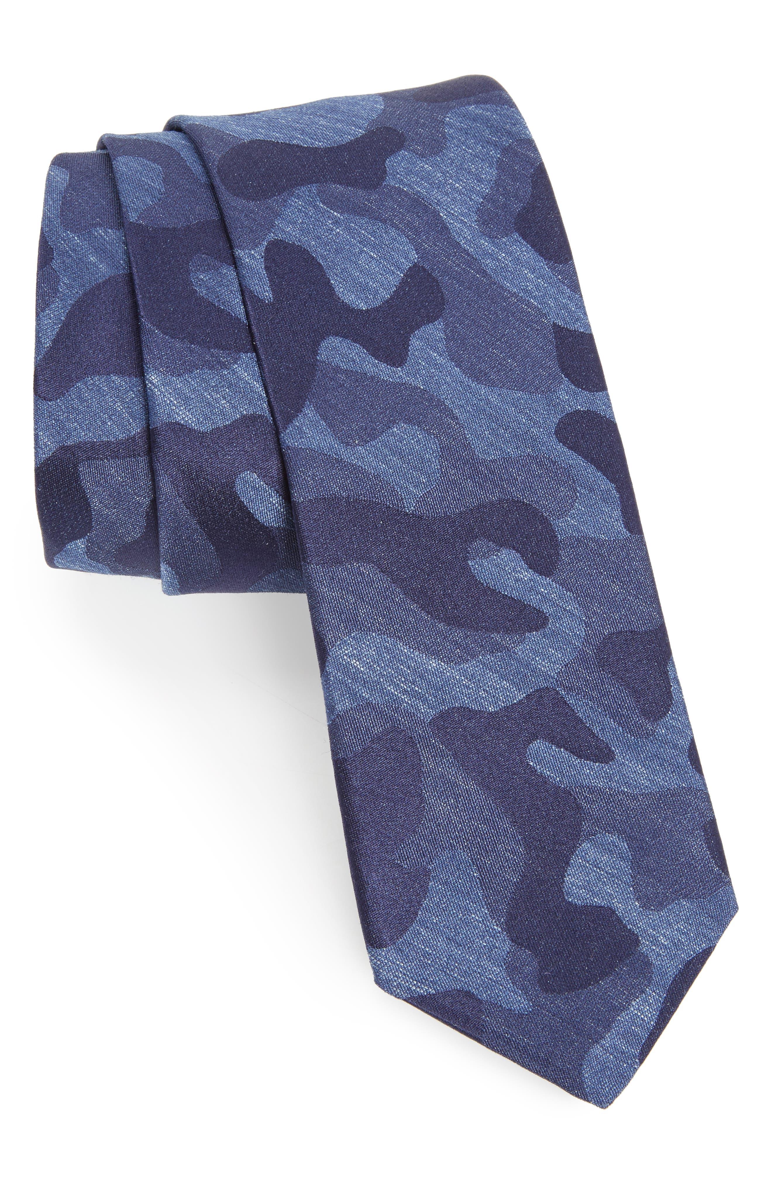 Camo Silk Tie,                             Main thumbnail 2, color,
