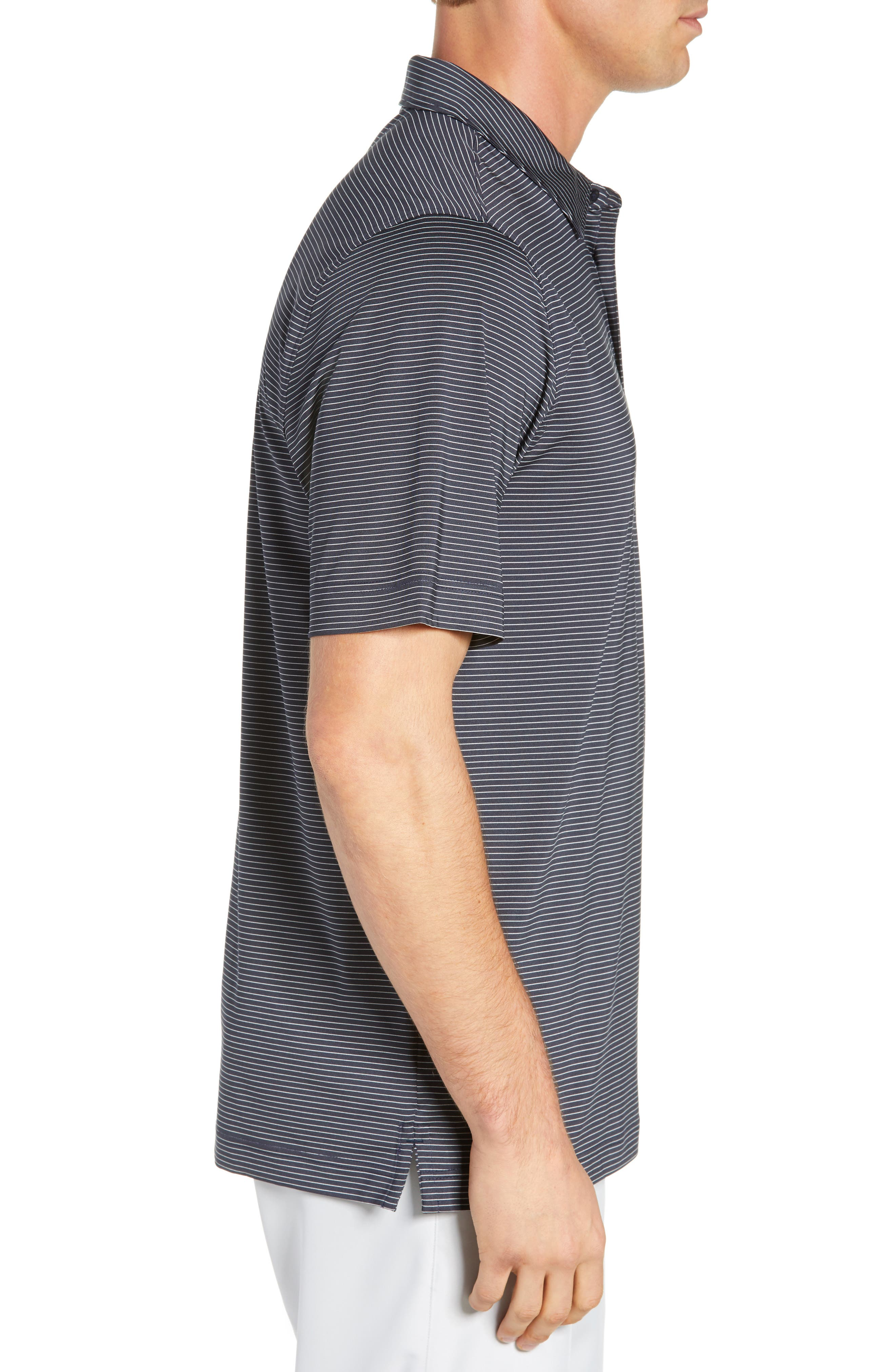CUTTER & BUCK,                             Prevail Regular Fit Stripe Polo,                             Alternate thumbnail 3, color,                             LIBERTY NAVY