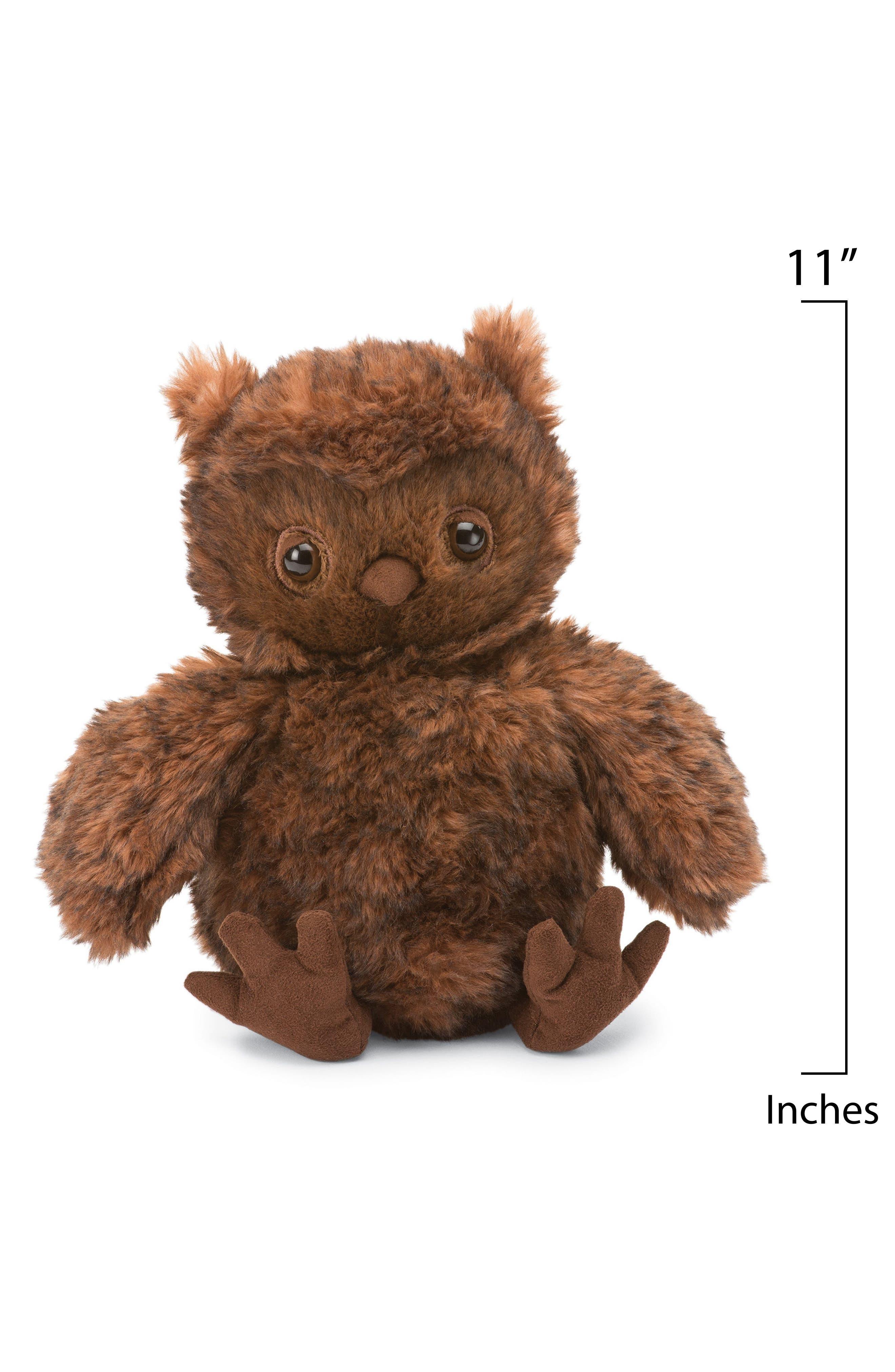 Cornelius the Owl Stuffed Animal,                             Alternate thumbnail 2, color,                             BROWN