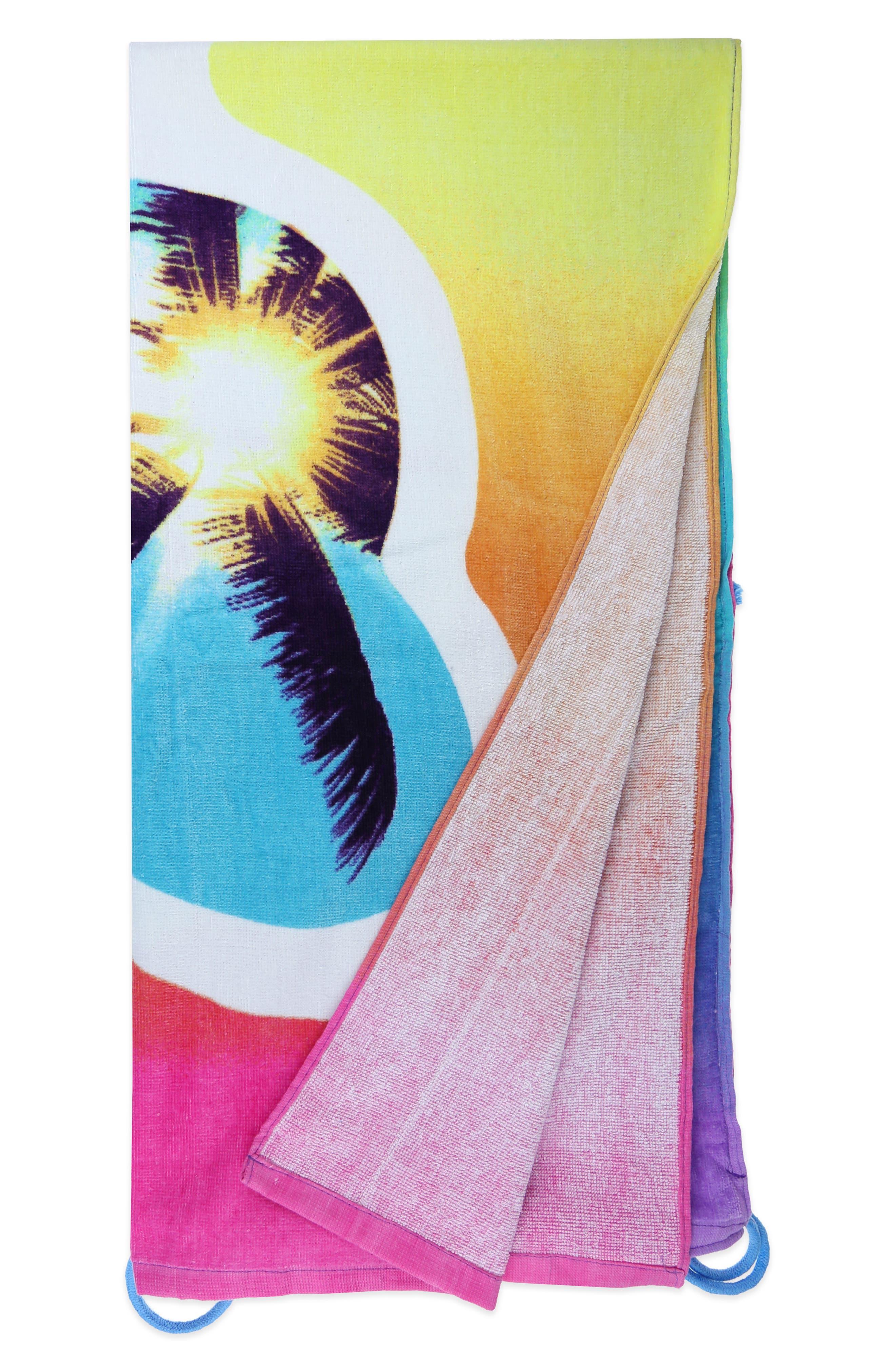 Heart Sunnies Towel Backpack,                             Alternate thumbnail 8, color,                             475