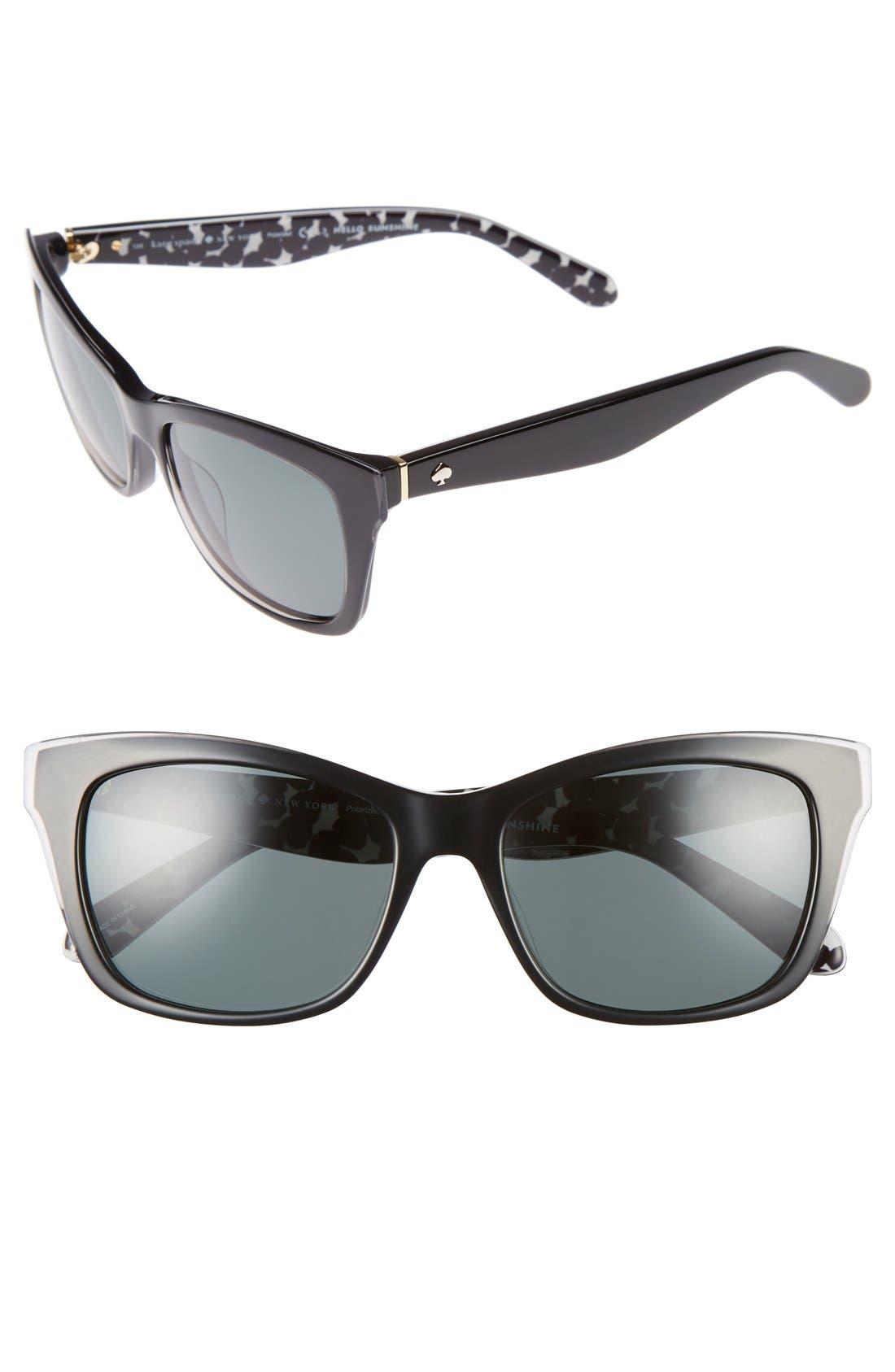 jenae 53mm polarized sunglasses,                             Main thumbnail 1, color,