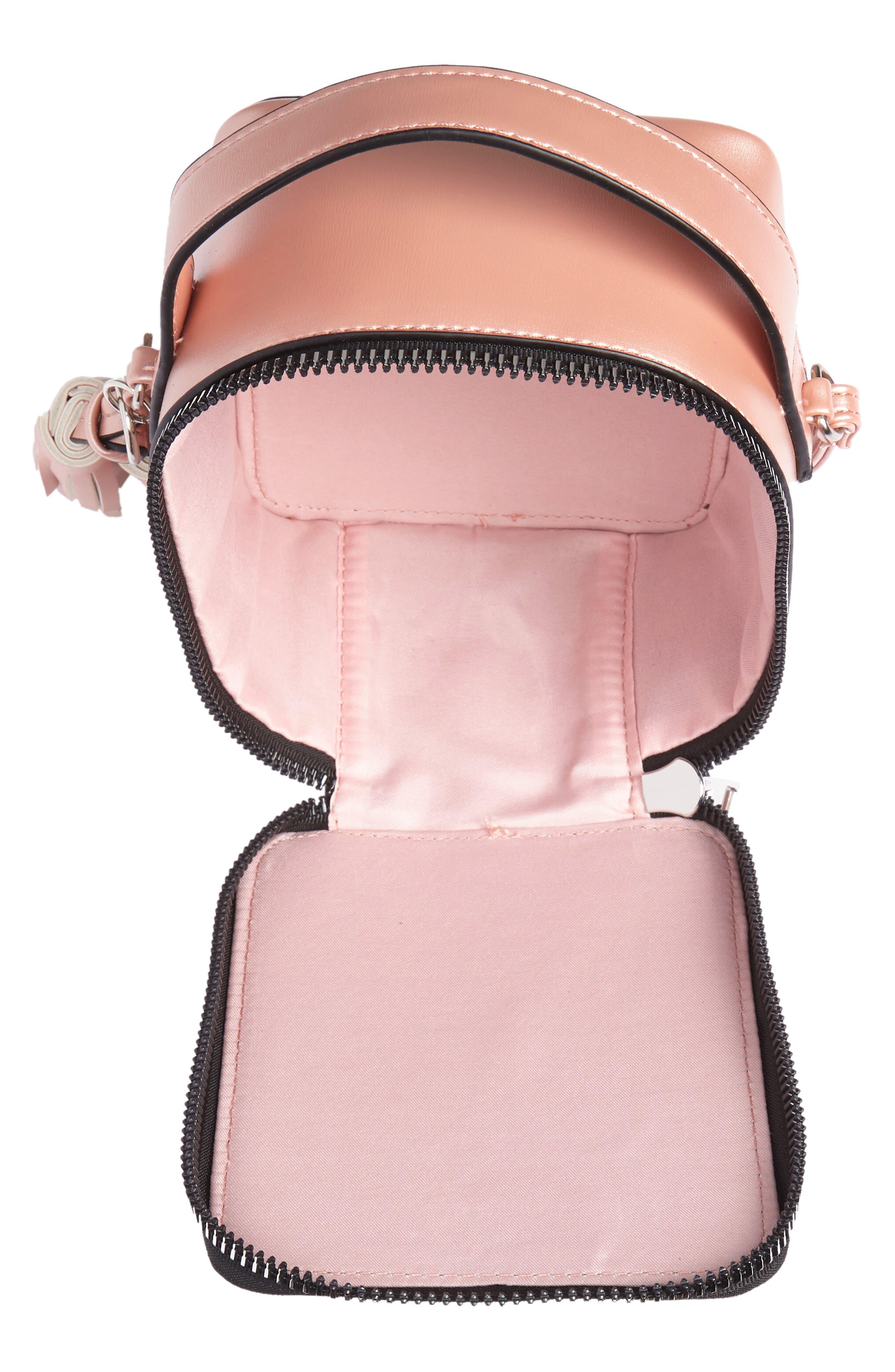 Tassel Metallic Faux Leather Box Bag,                             Alternate thumbnail 4, color,                             710
