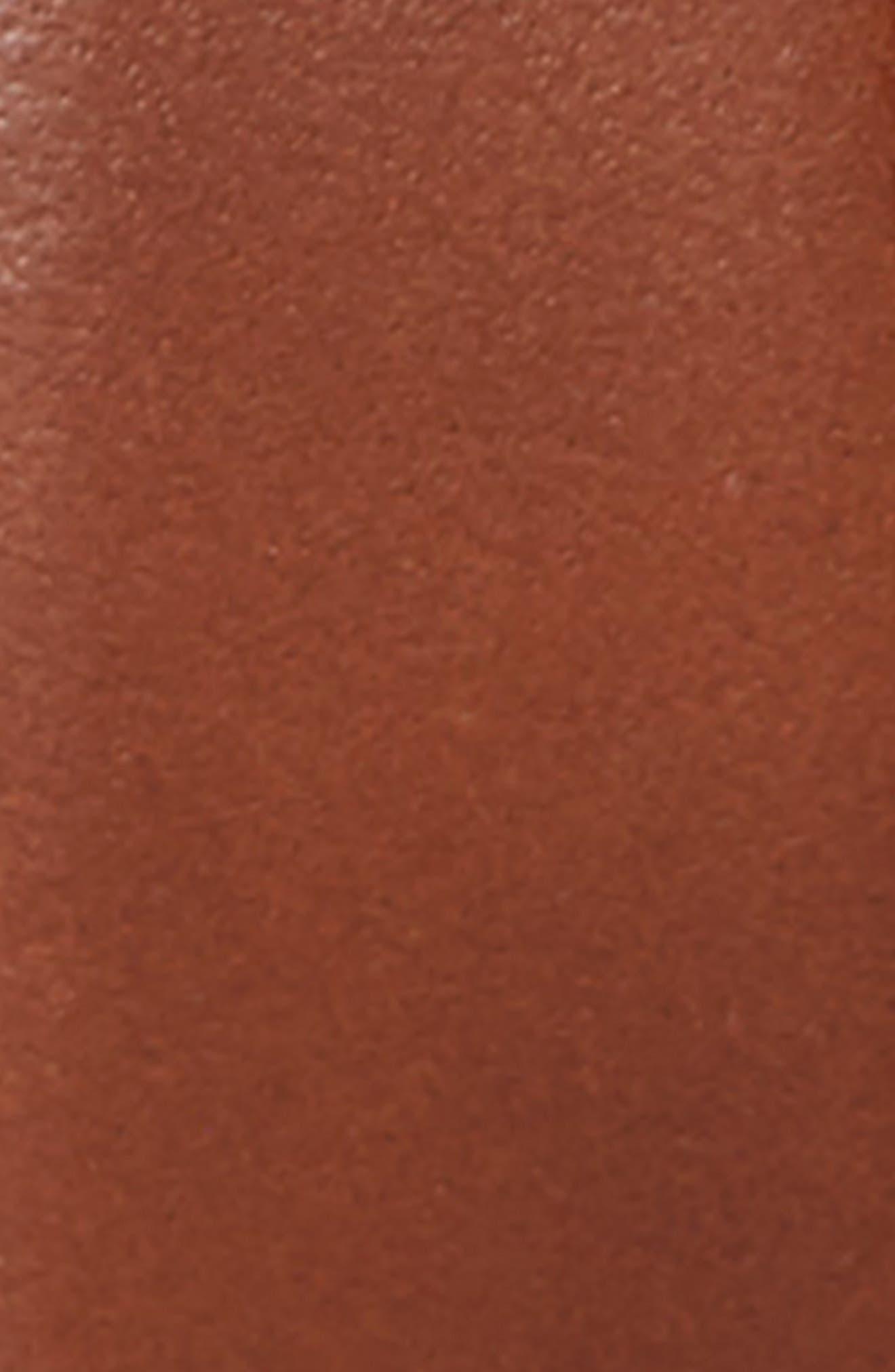 Reversible Leather Belt,                             Alternate thumbnail 3, color,                             COGNAC BLACK